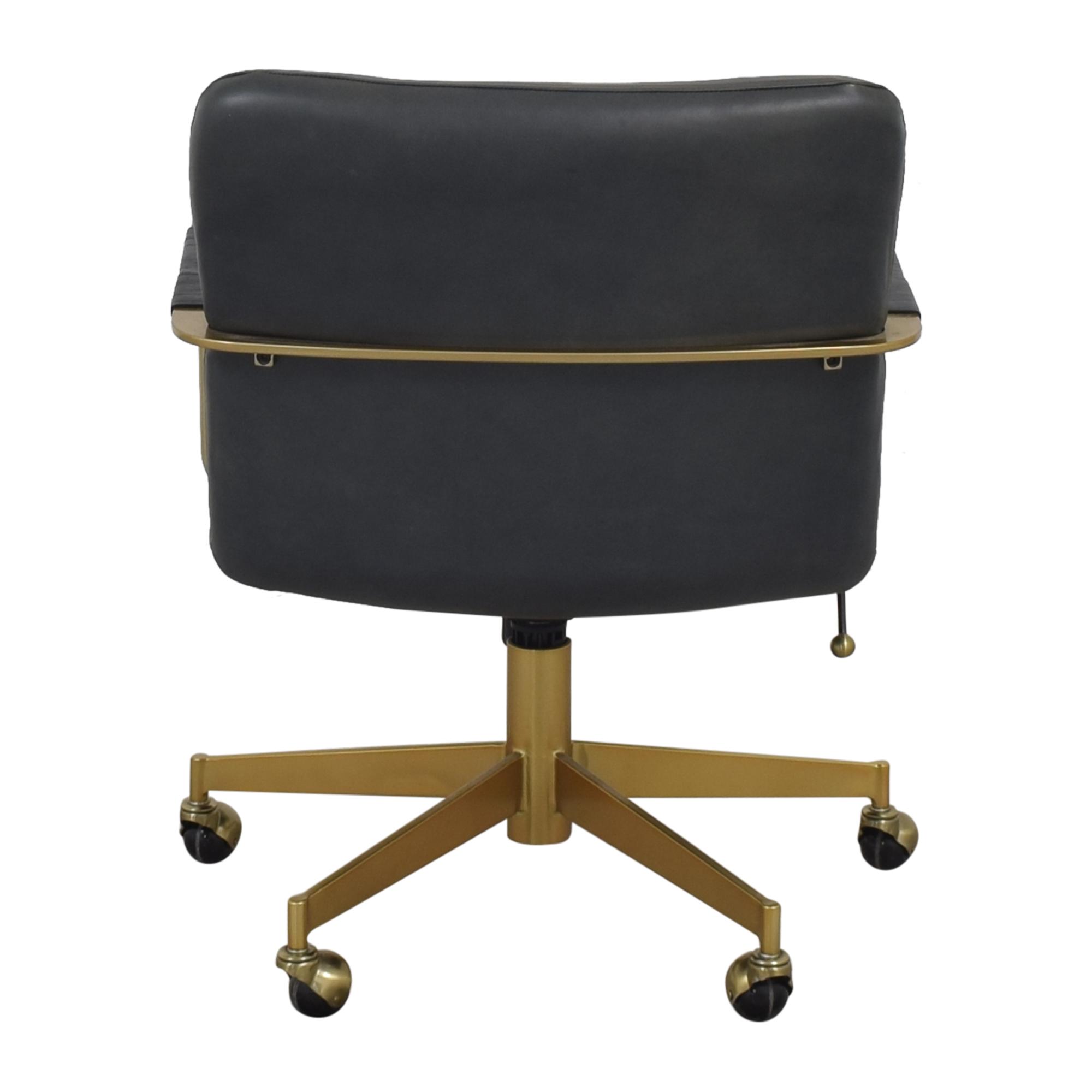 shop West Elm Cooper Mid-Century Swivel Office Chair West Elm Chairs