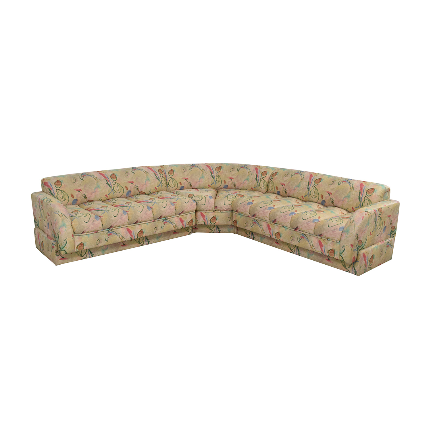 Directional Furniture Custom Collection Floral Three Piece Sectional Sofa / Sofas