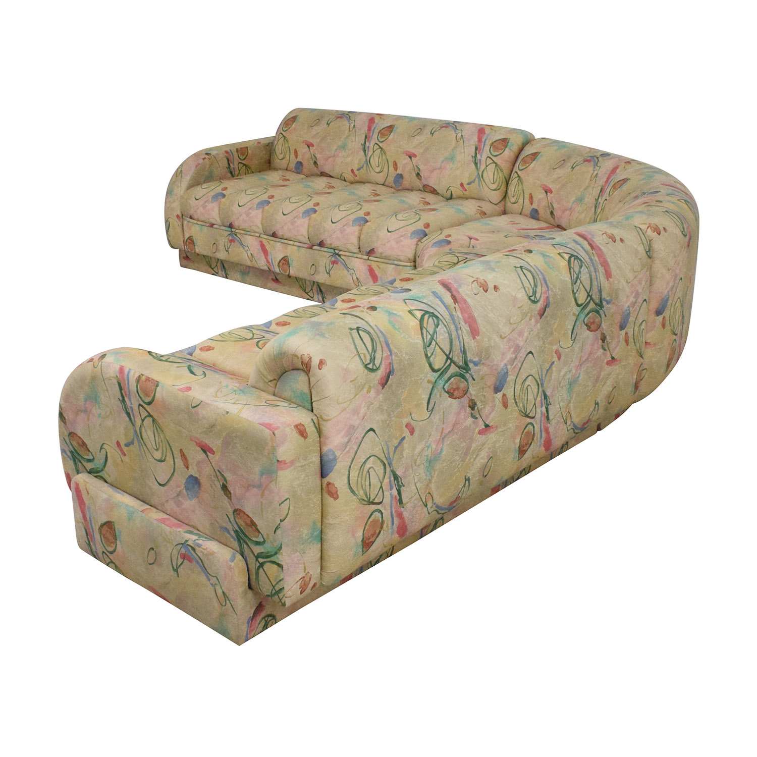 Directional Furniture Directional Furniture Custom Collection Floral Three Piece Sectional Sofa
