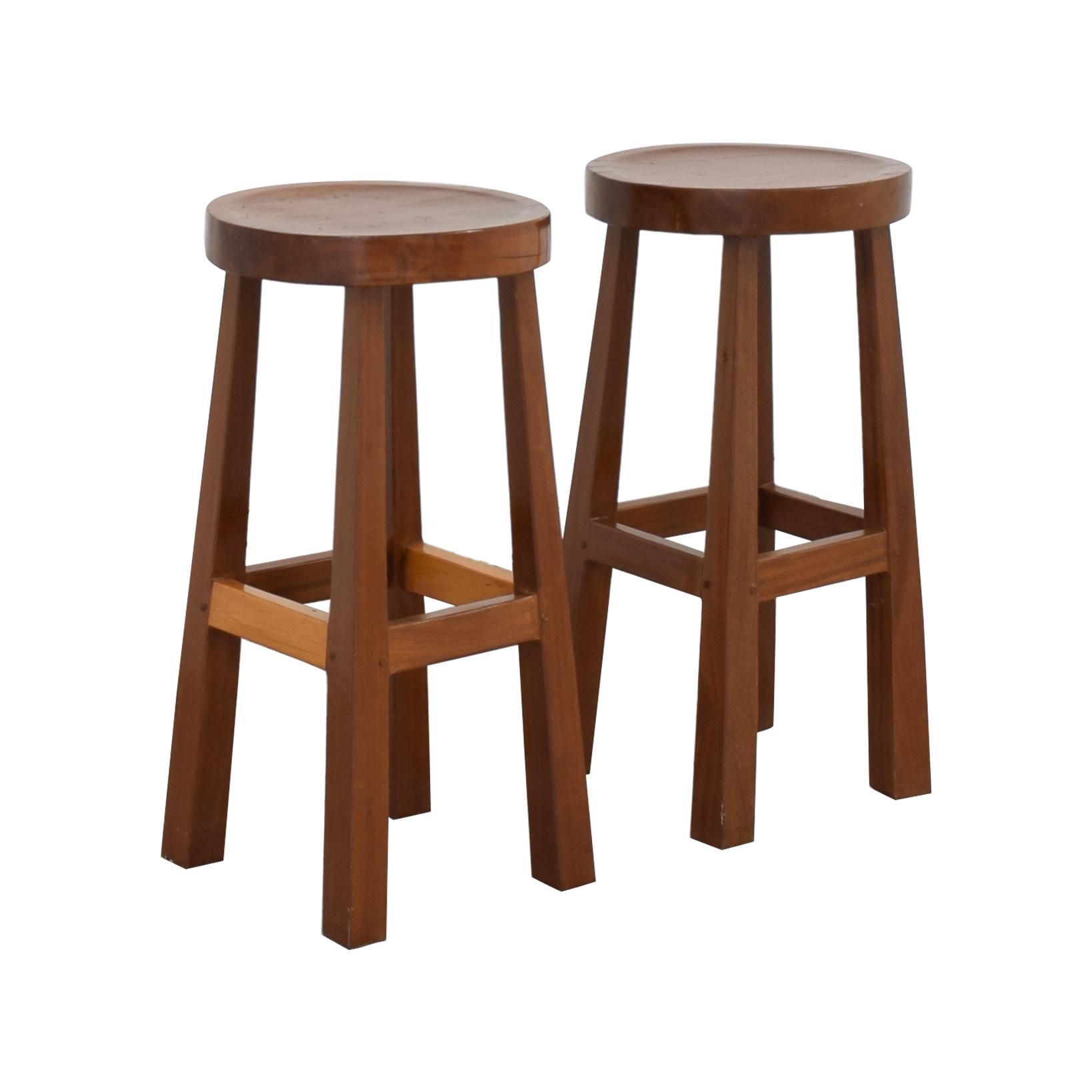 Mission Style Wood Bar Stools on sale