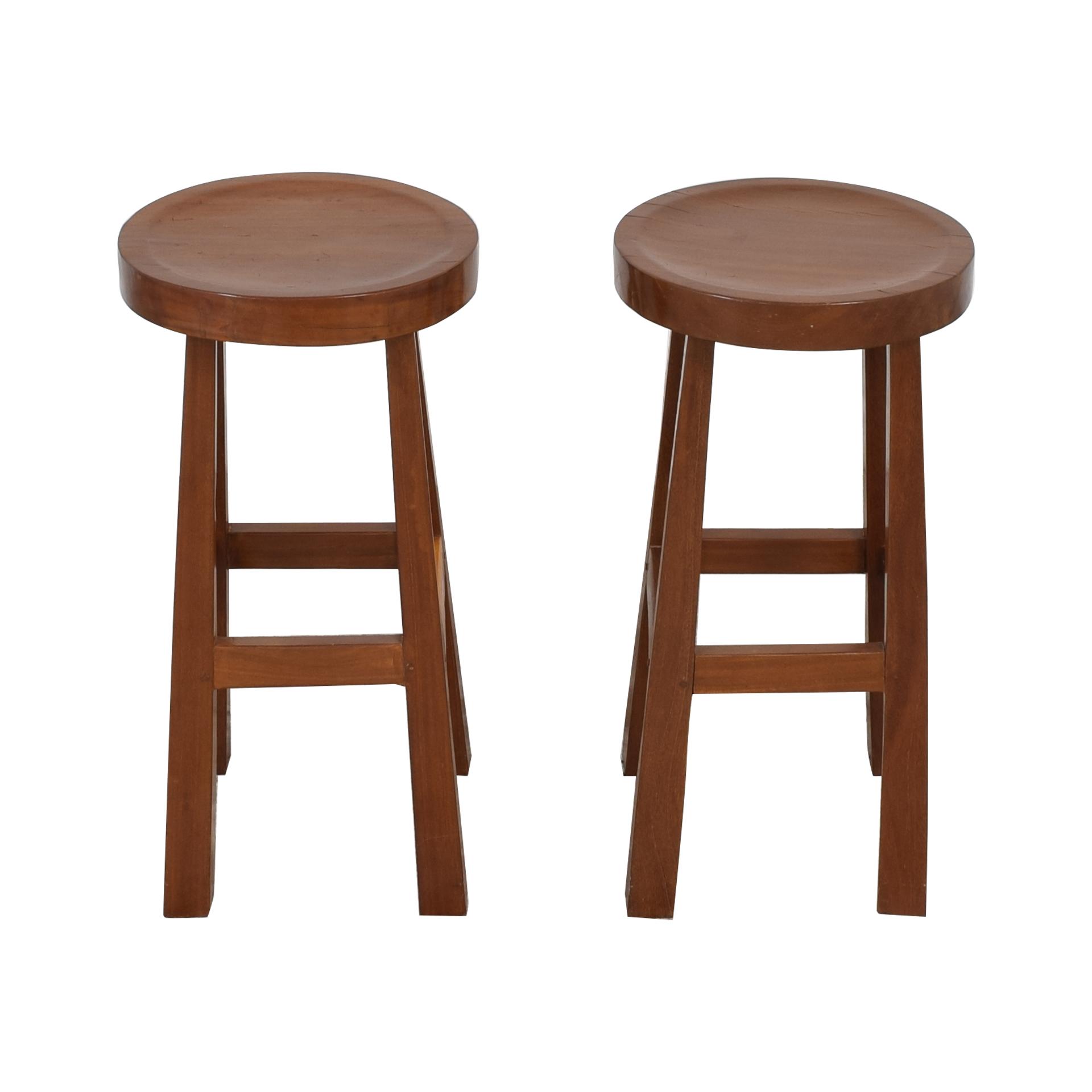 Mission Style Wood Bar Stools pa
