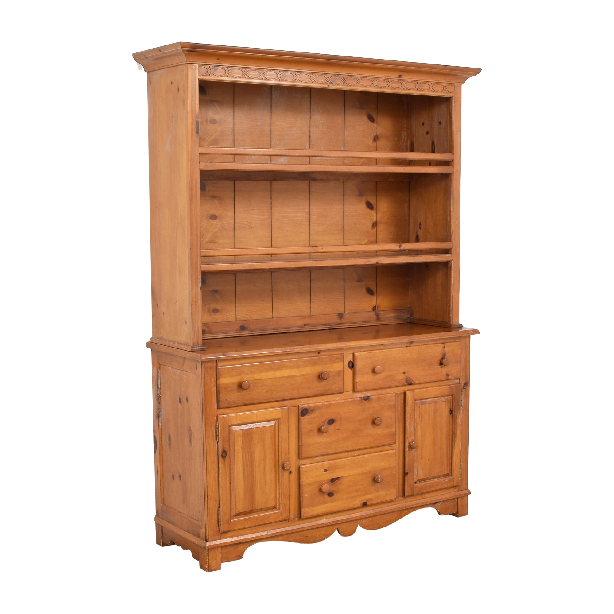 shop The Guild Hall Cabinet with Hutch  Cabinets & Sideboards