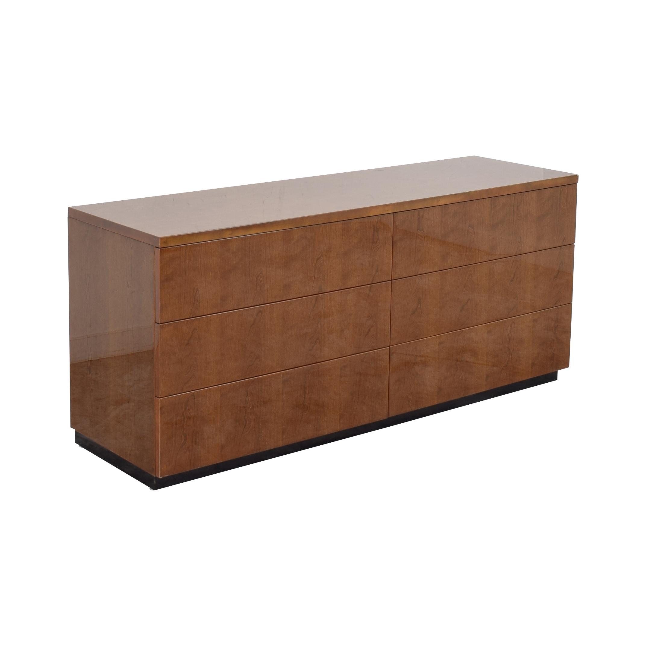 Henredon Furniture Henredon Furniture Six Drawer Dresser brown