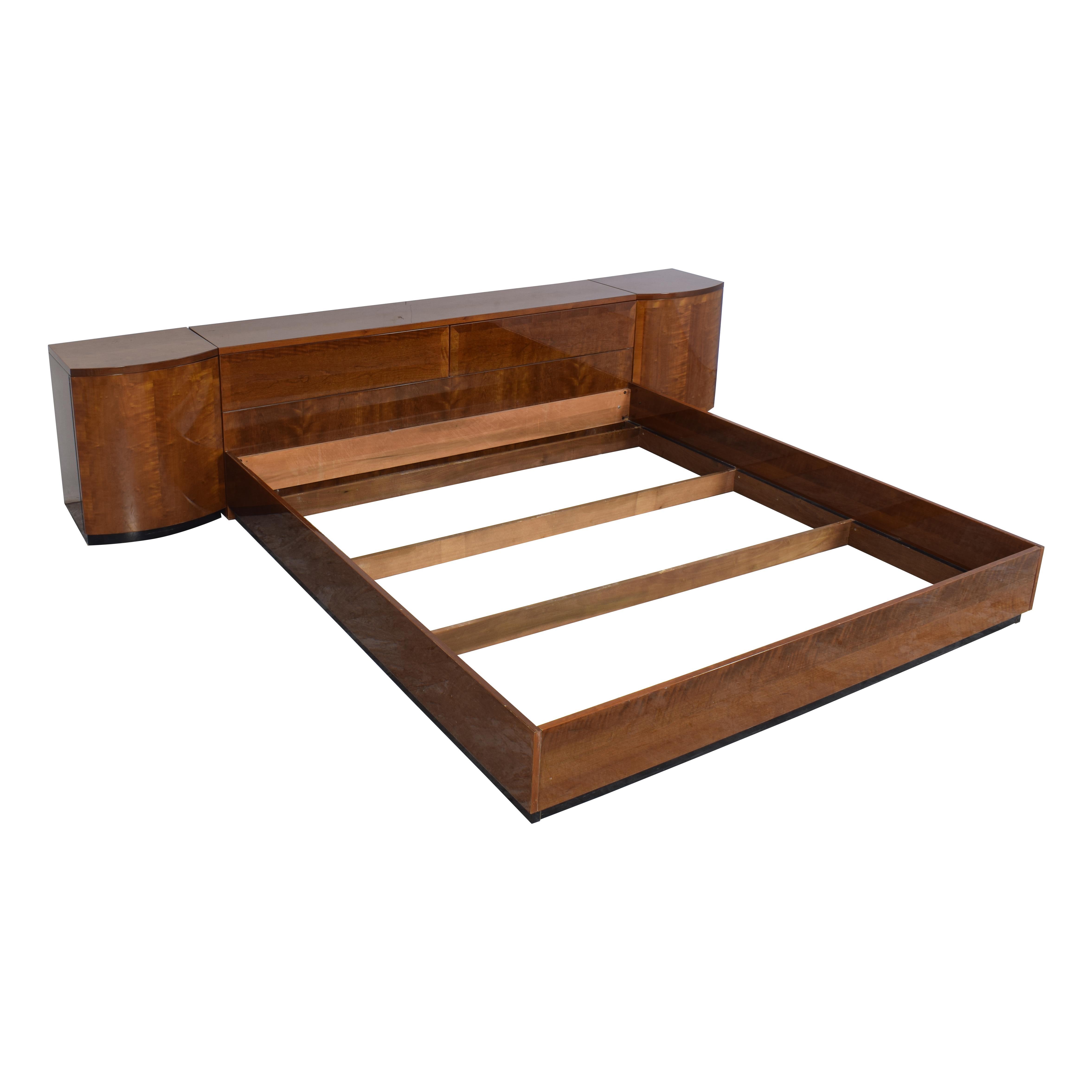 buy Henredon Furniture King Storage Bed with Nightstands Henredon Furniture Bed Frames