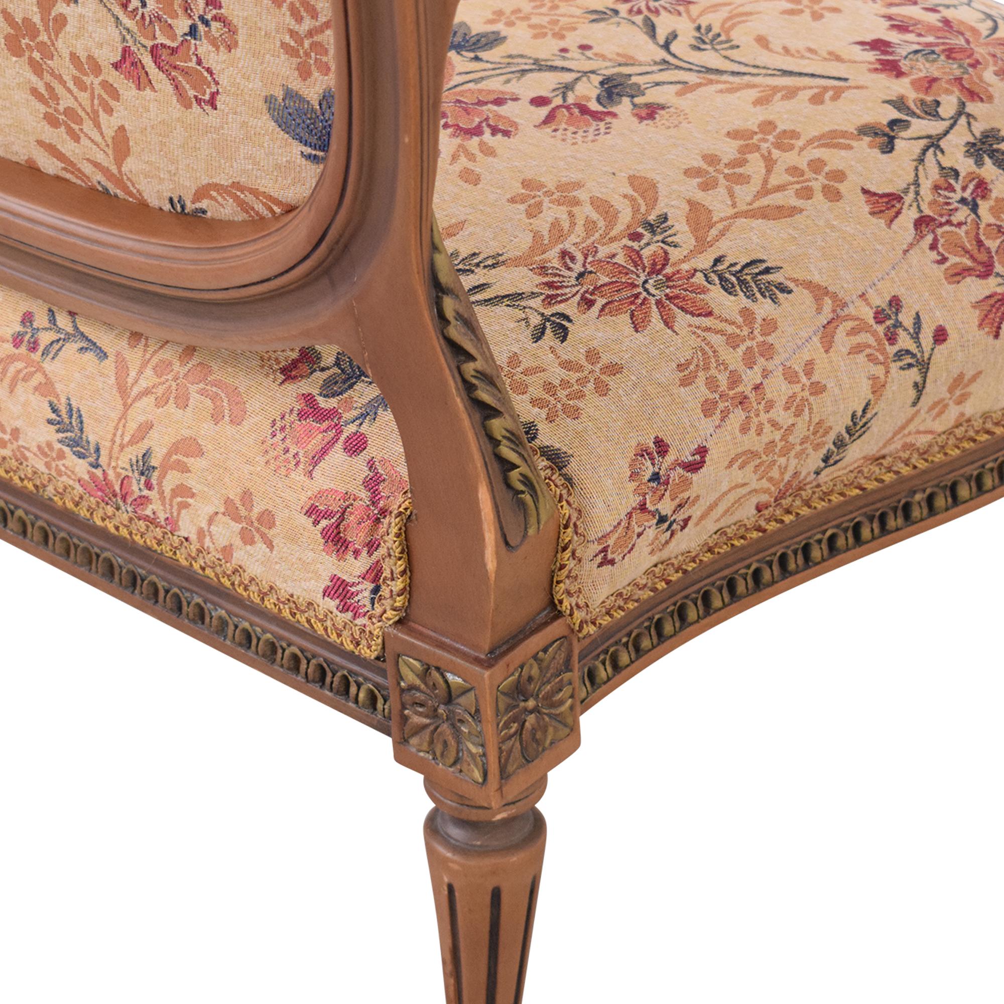 Vintage Floral Settee Sofa on sale