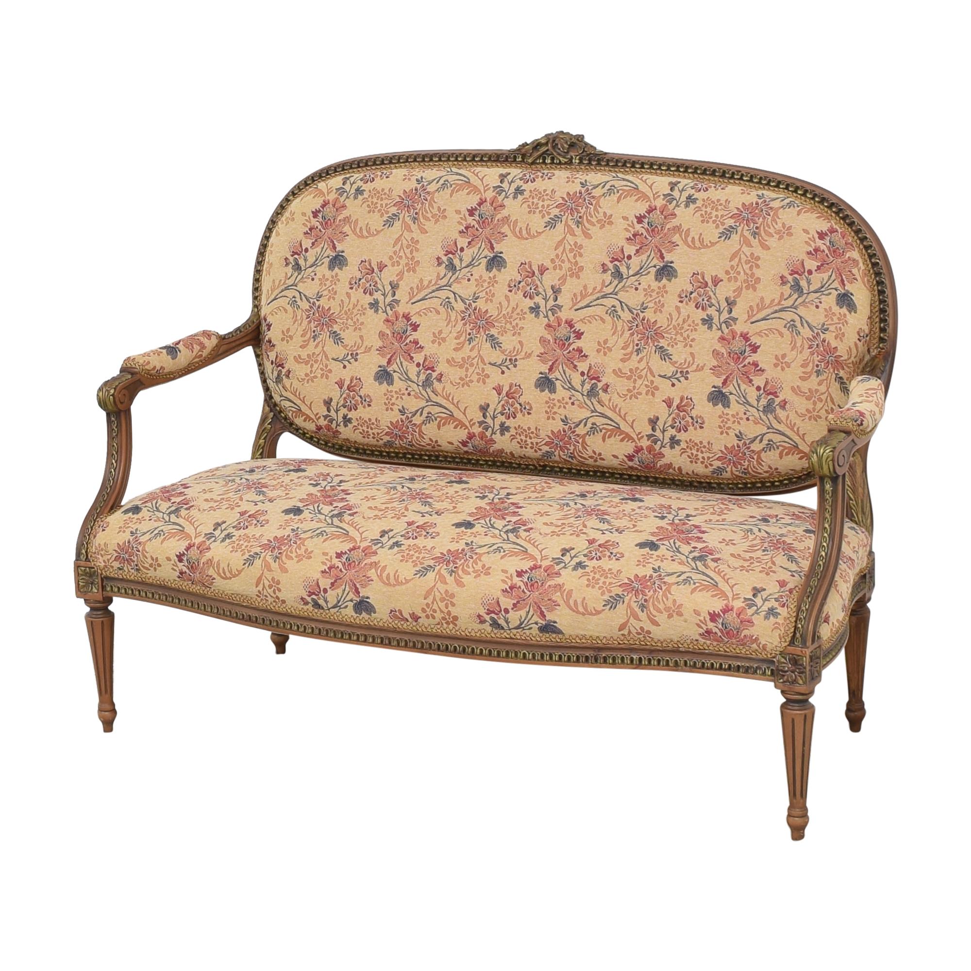 Vintage Floral Settee Sofa pa