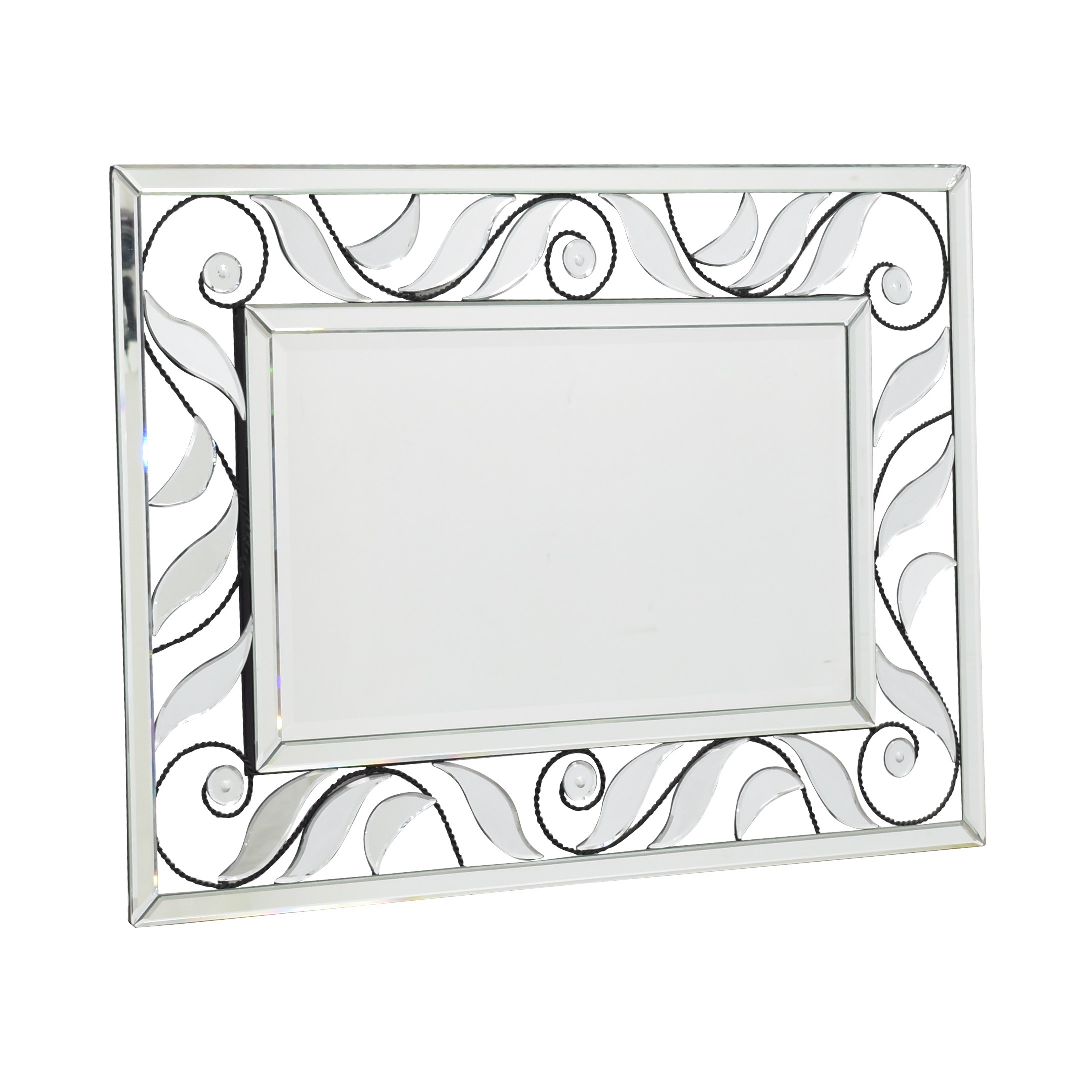Glass and Iron Framed Mirror sale