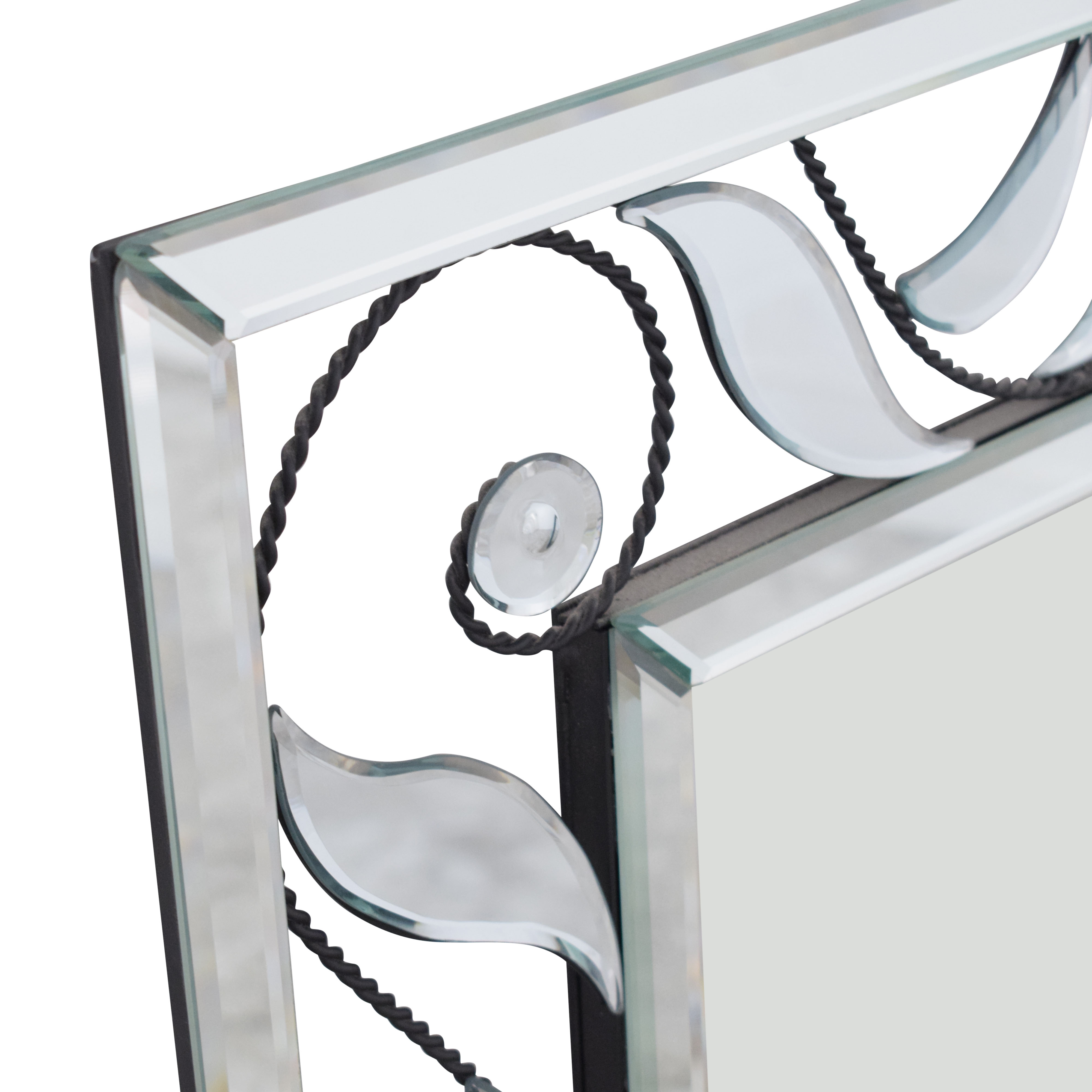 buy Glass and Iron Framed Mirror  Decor