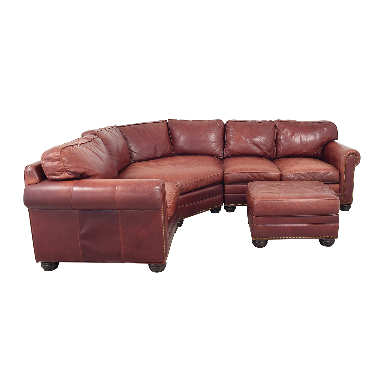 shop Zagaroli Classics Leather Sectional with Ottoman Zagaroli Classics Sectionals