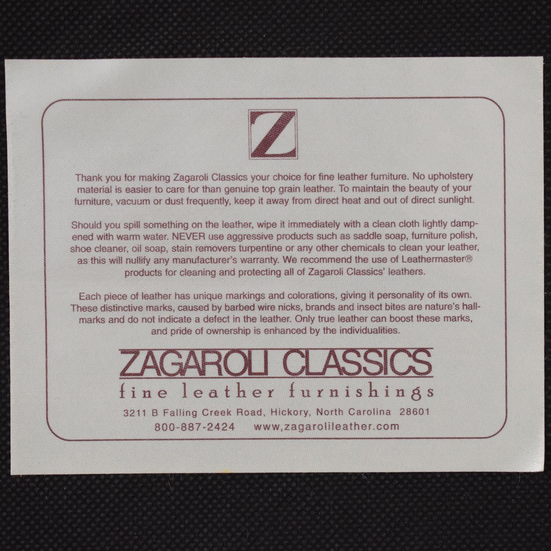 shop Zagaroli Classics Leather Sectional with Ottoman Zagaroli Classics