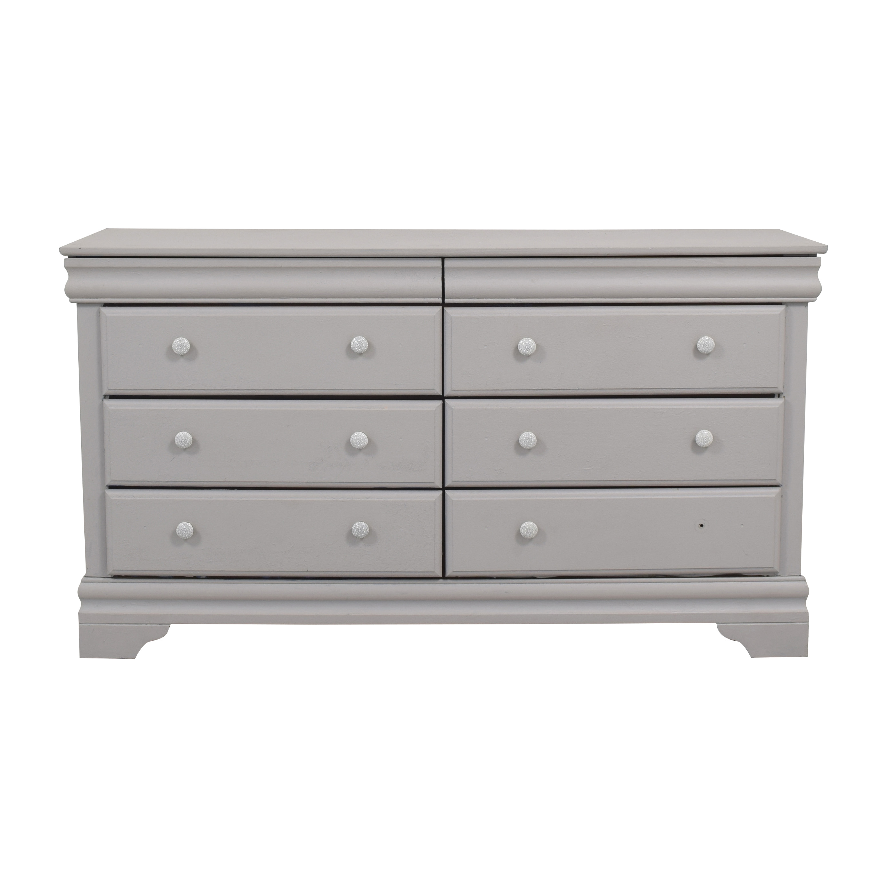 Vaughan-Bassett Vaughan-Bassett Grey Eight Drawer Dresser dimensions