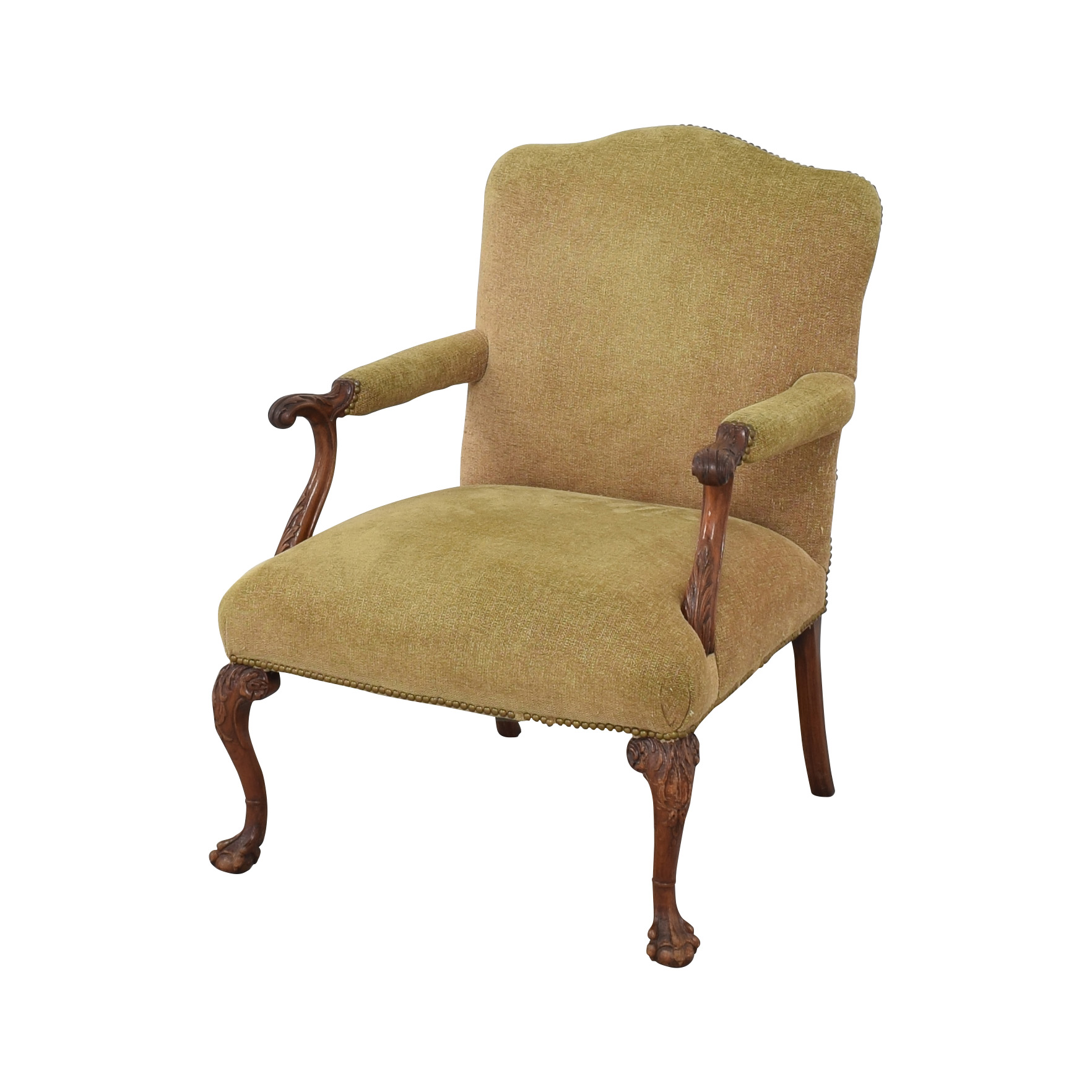 Regency Regency Upholstered Chippendale Occasional Chair coupon