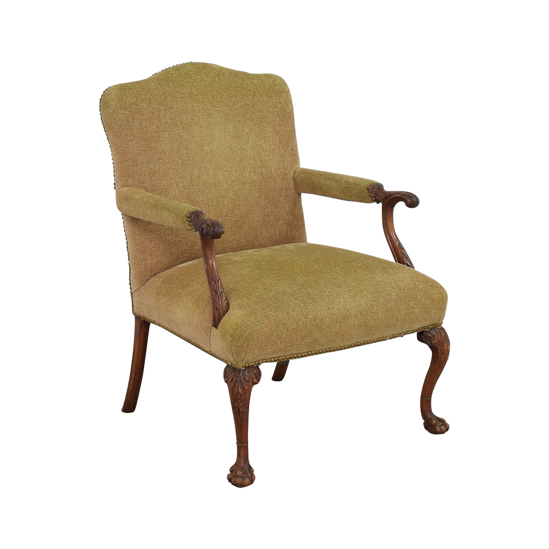 Regency Regency Upholstered Chippendale Occasional Chair