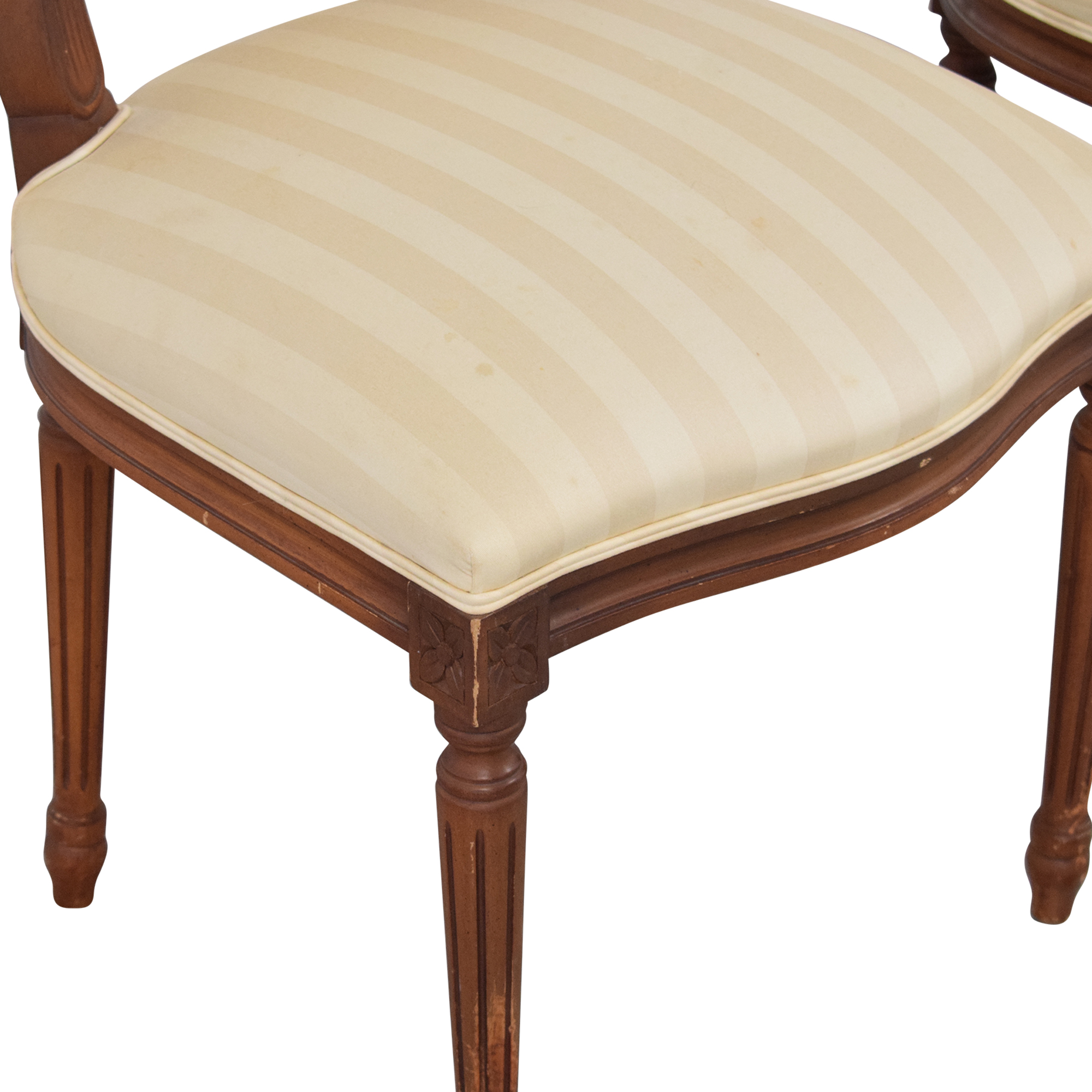 French Style Dining Chairs with Slip Covers dimensions