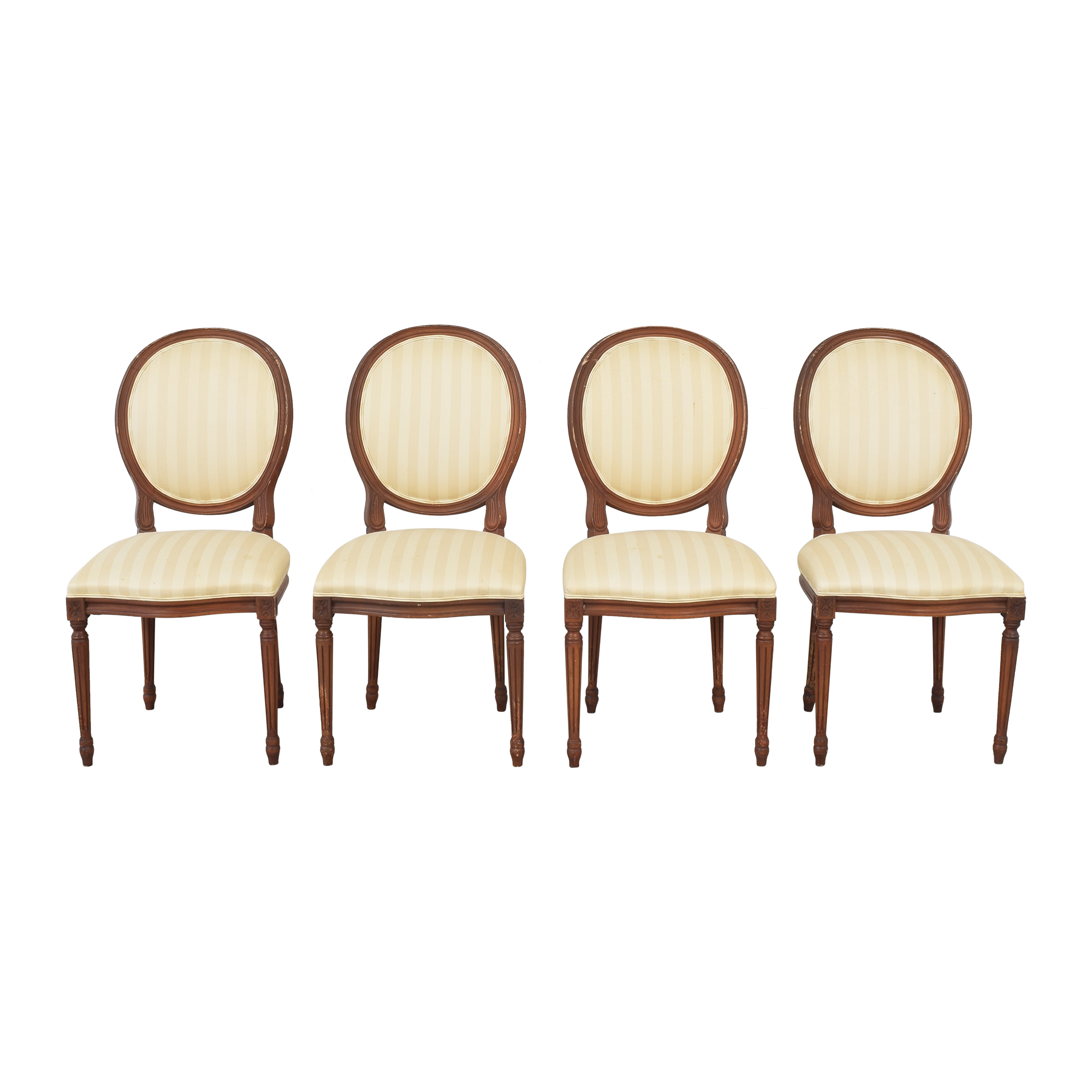 French Style Dining Chairs with Slip Covers sale