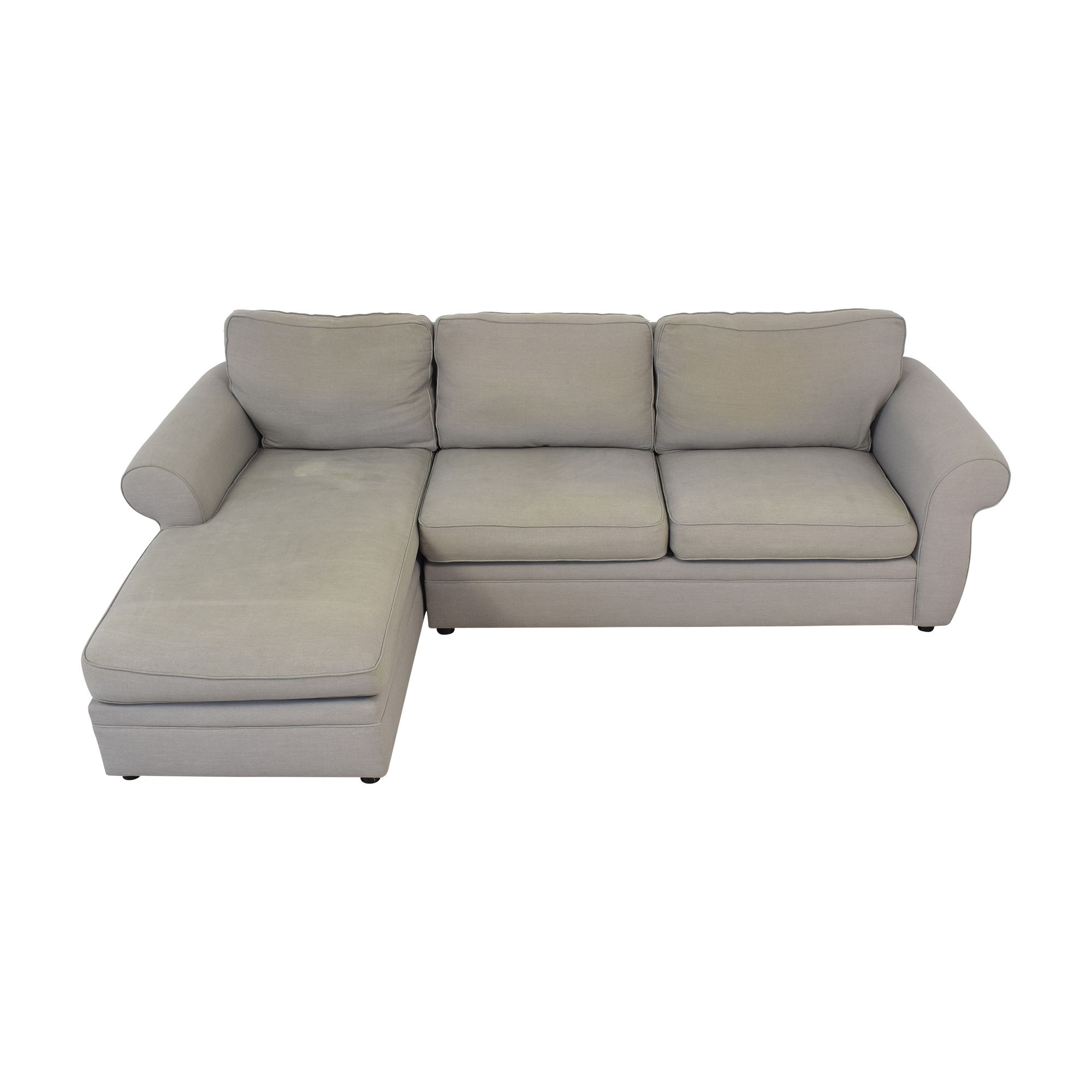 Pottery Barn Pearce Roll Arm Left Loveseat with Chaise Sectional / Sectionals