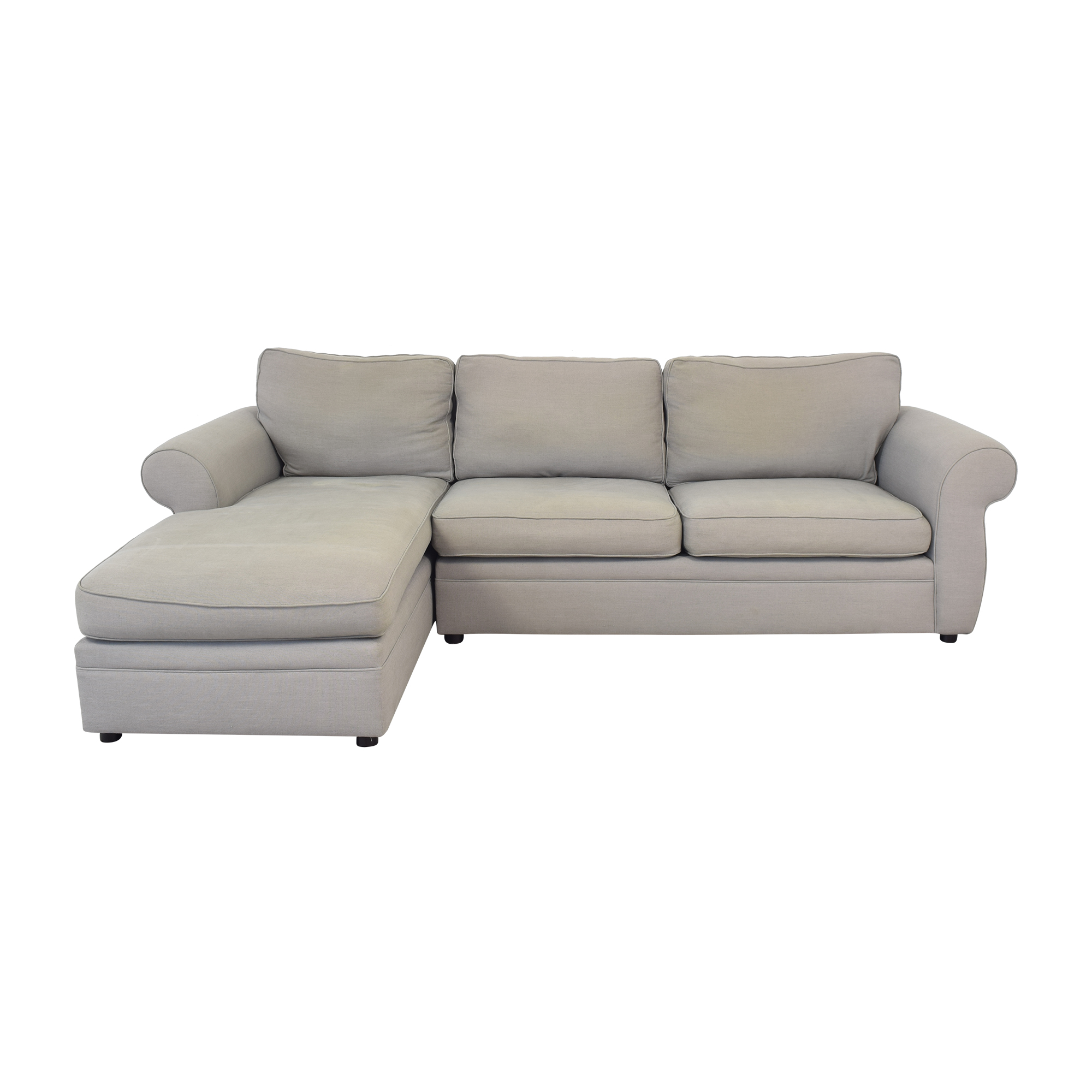Pottery Barn Pearce Roll Arm Left Loveseat with Chaise Sectional / Sofas