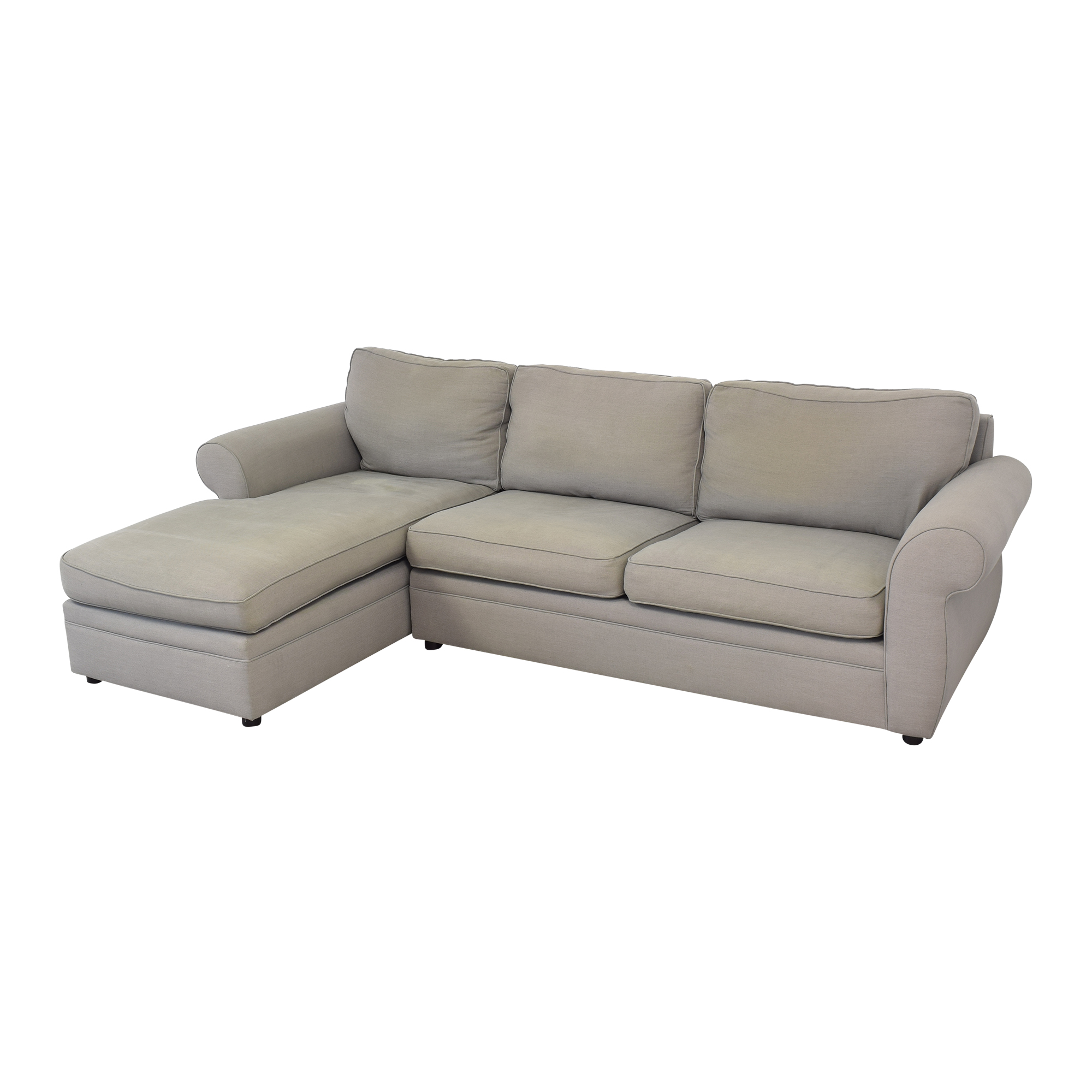 buy Pottery Barn Pearce Roll Arm Left Loveseat with Chaise Sectional Pottery Barn Sofas