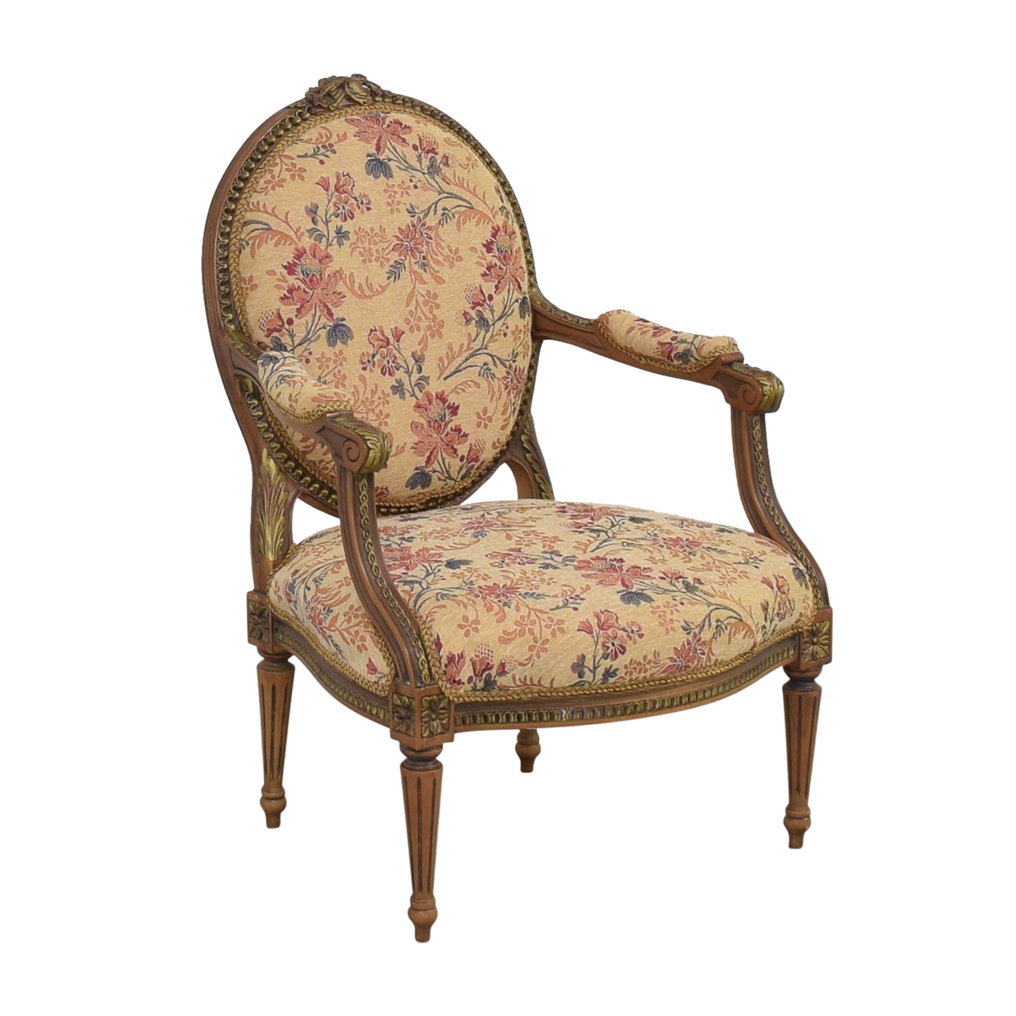 Custom Floral Upholstered Accent Chair / Chairs