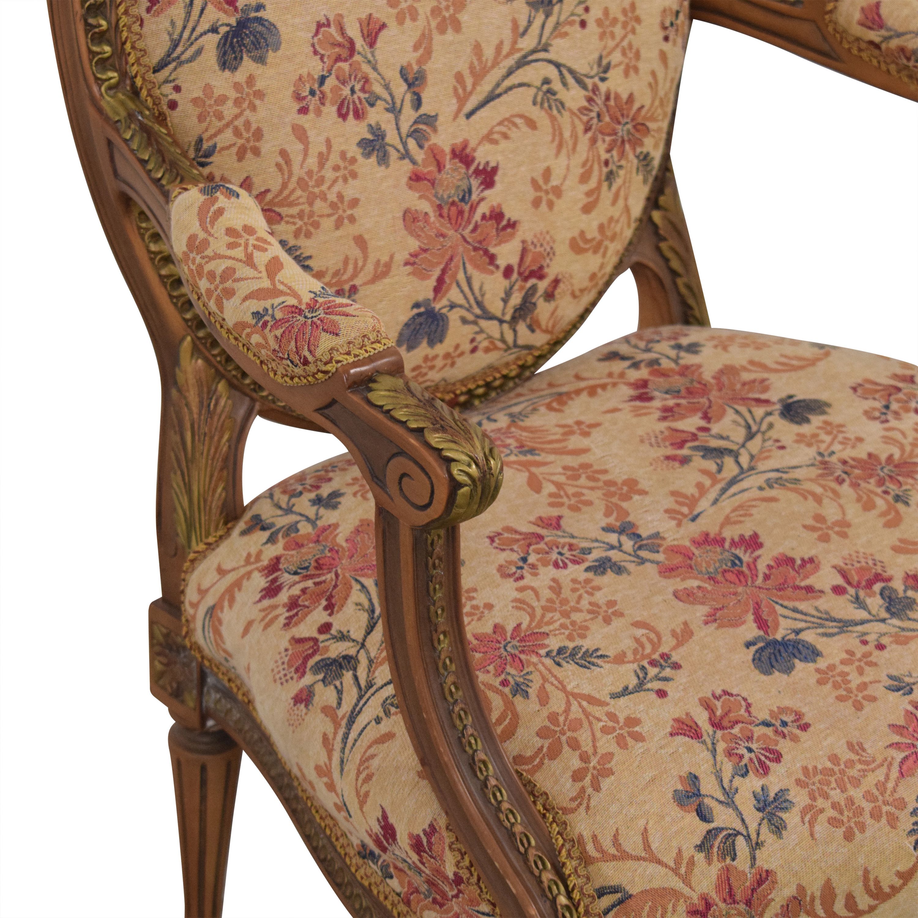 shop Custom Floral Upholstered Accent Chair  Accent Chairs