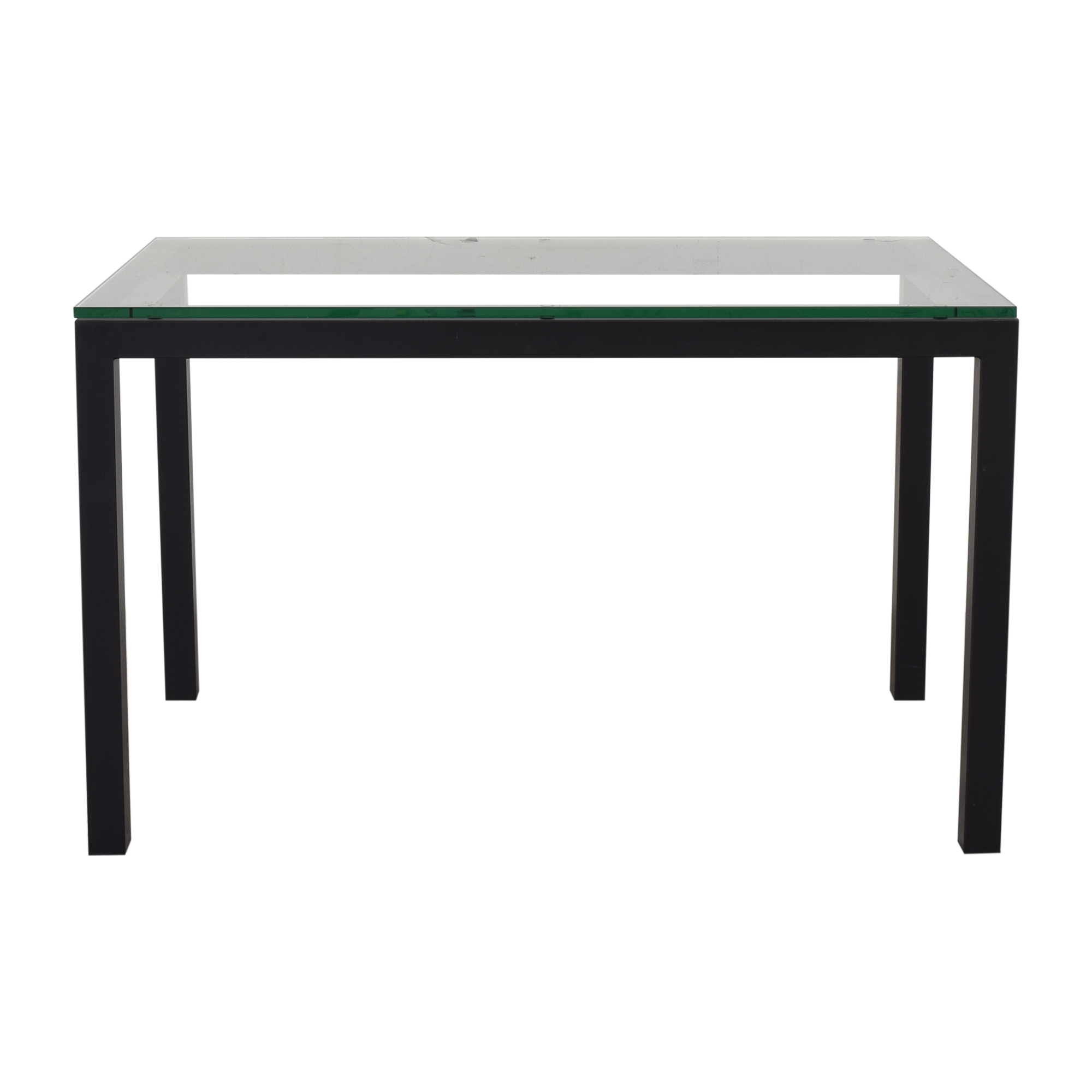 buy Crate & Barrel Crate & Barrel Glass and Steel Parsons Table online
