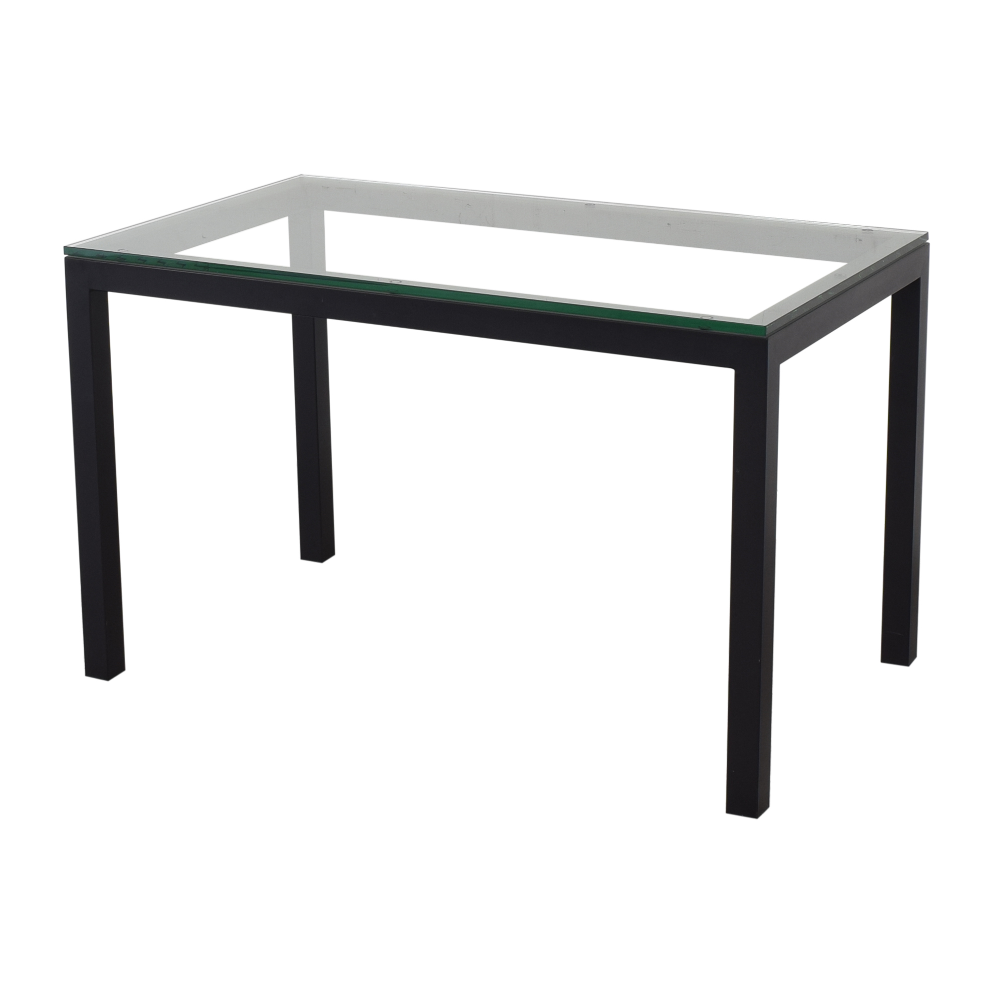 Crate & Barrel Crate & Barrel Glass and Steel Parsons Table price