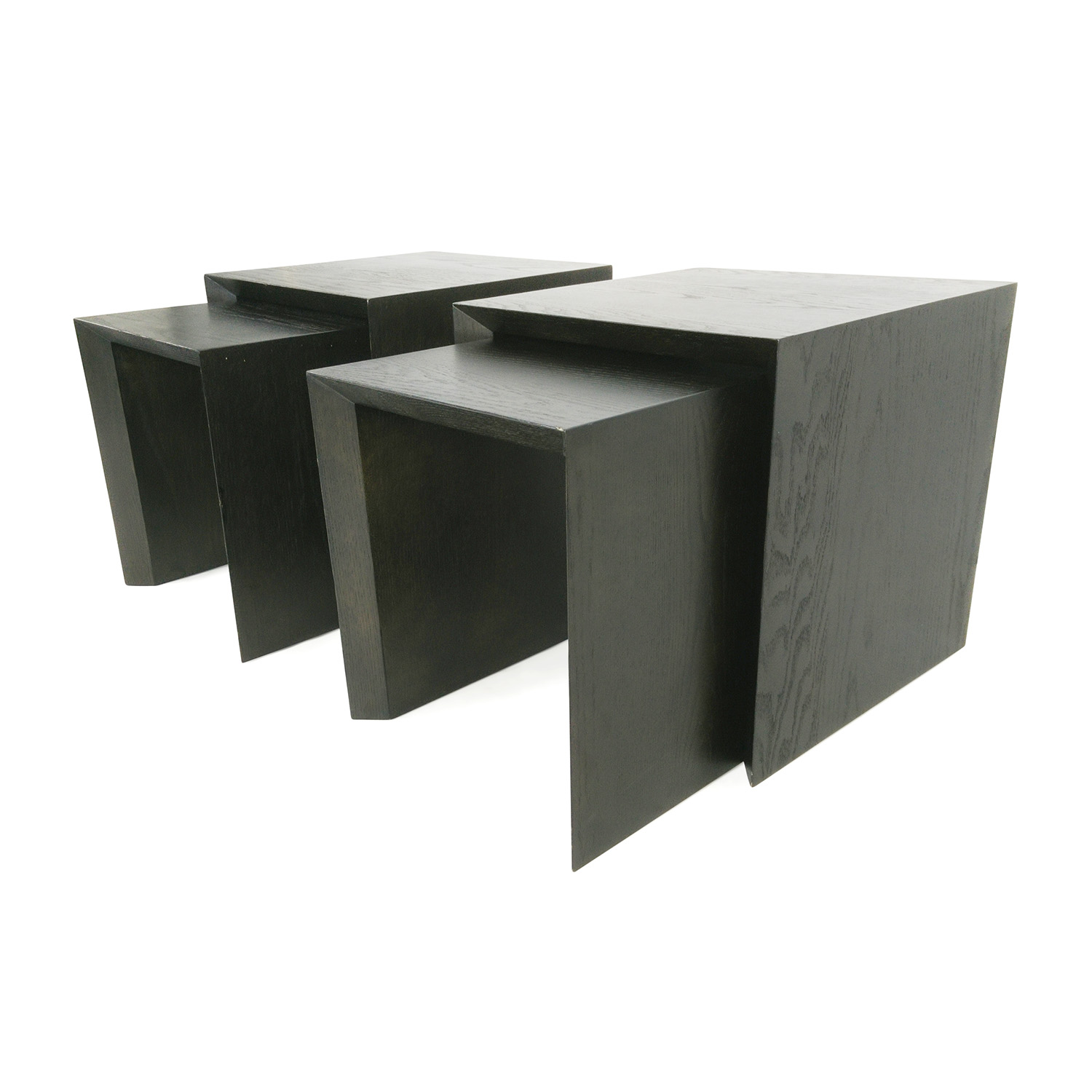 Pair of Nested Side Tables Dark Chocolate