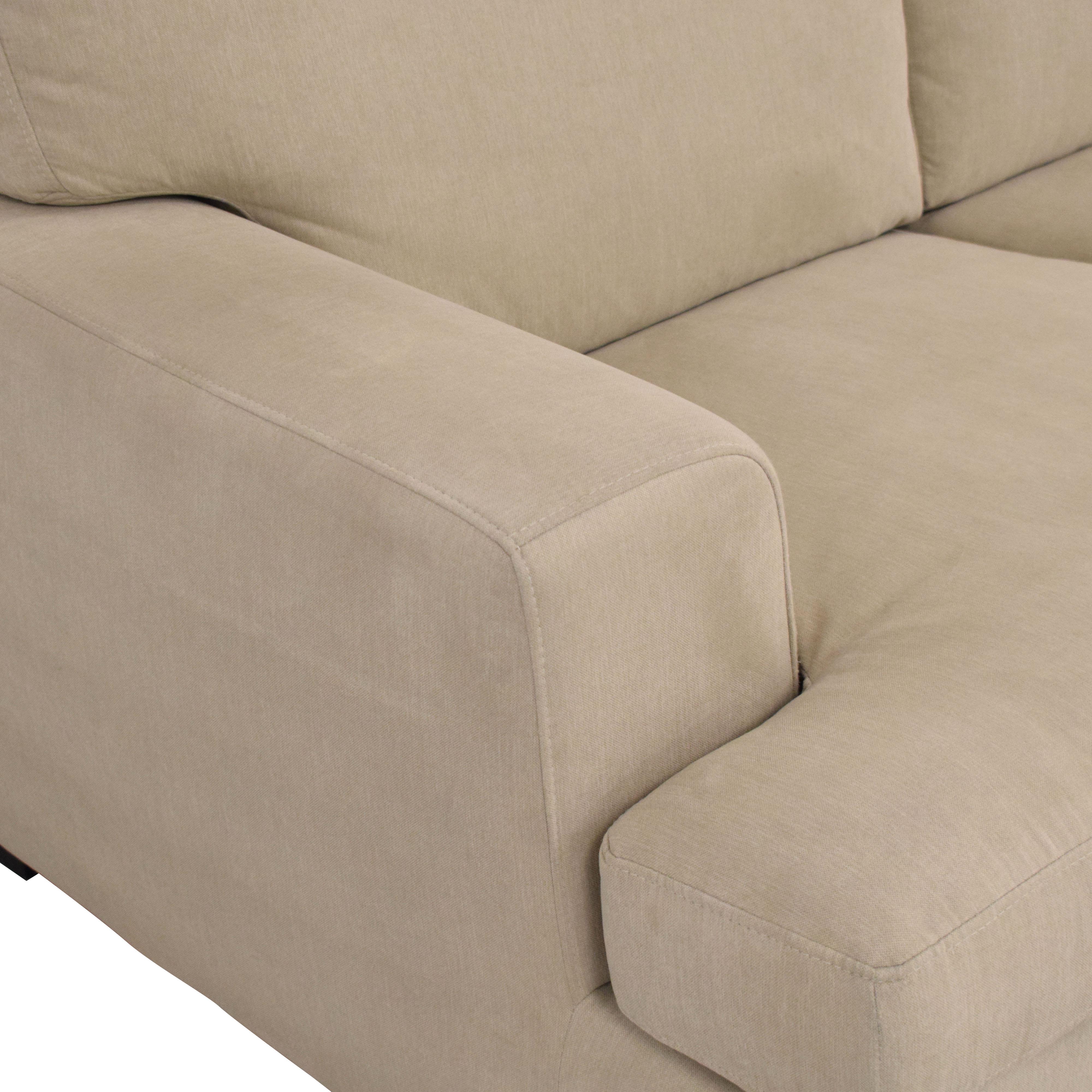 Stone & Beam Stone & Beam Lauren Down-Filled Oversized Sofa beige