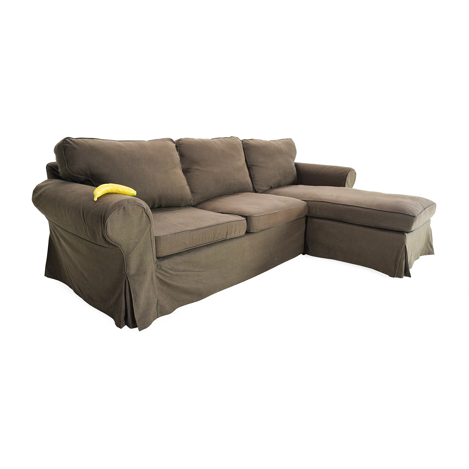49 Off Ikea Ektorp Brown Couch With Chaise Sofas