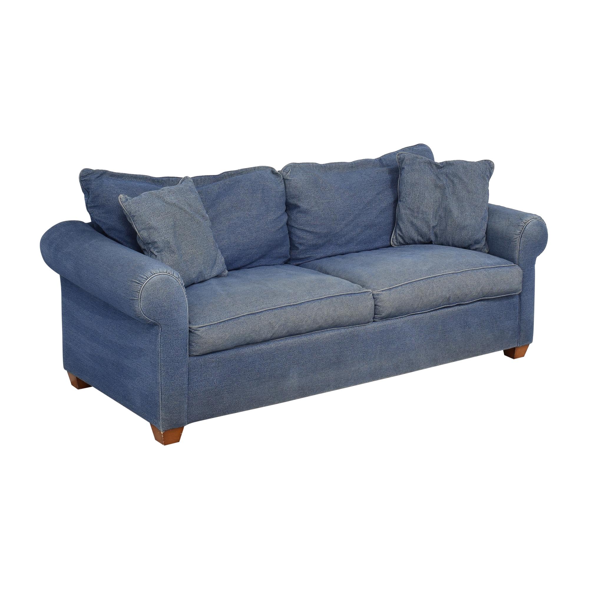 buy Leggett & Platt Denim Queen Pull Out Sofa Leggett & Platt