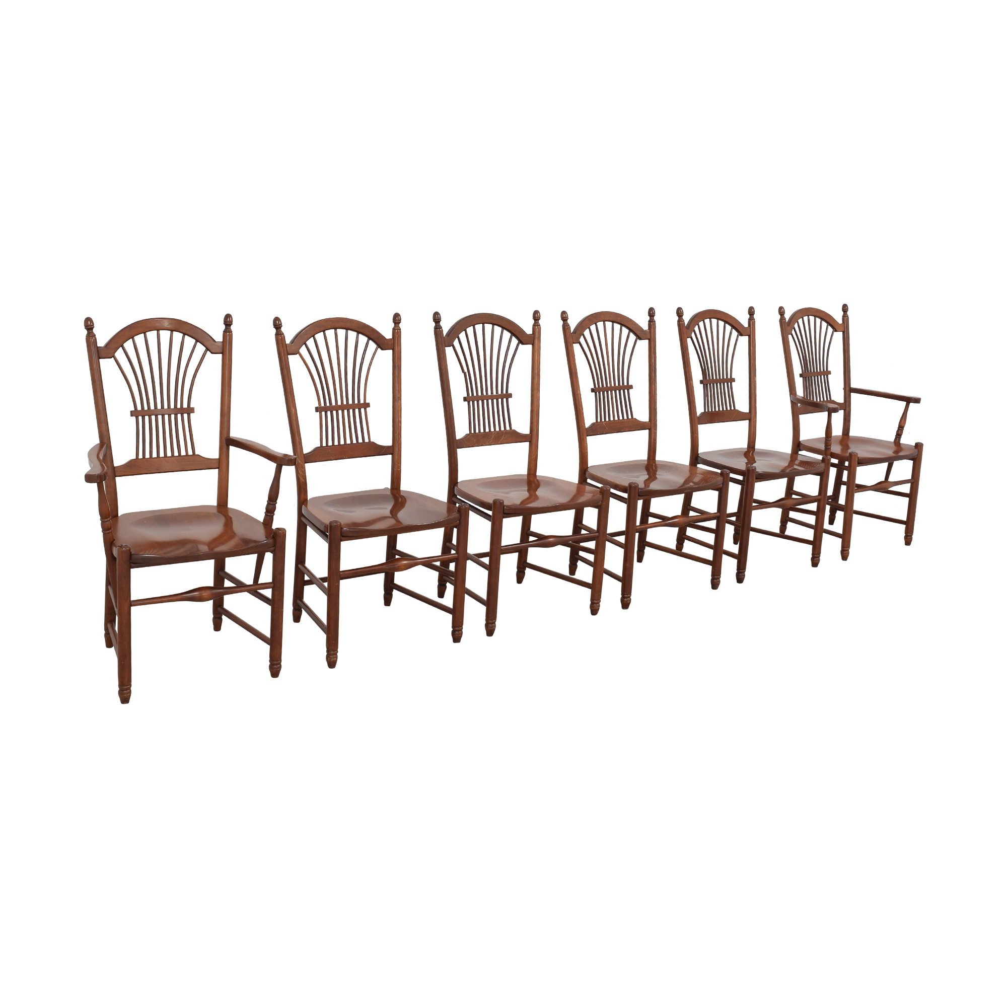 Classic Press Back Dining Chairs second hand