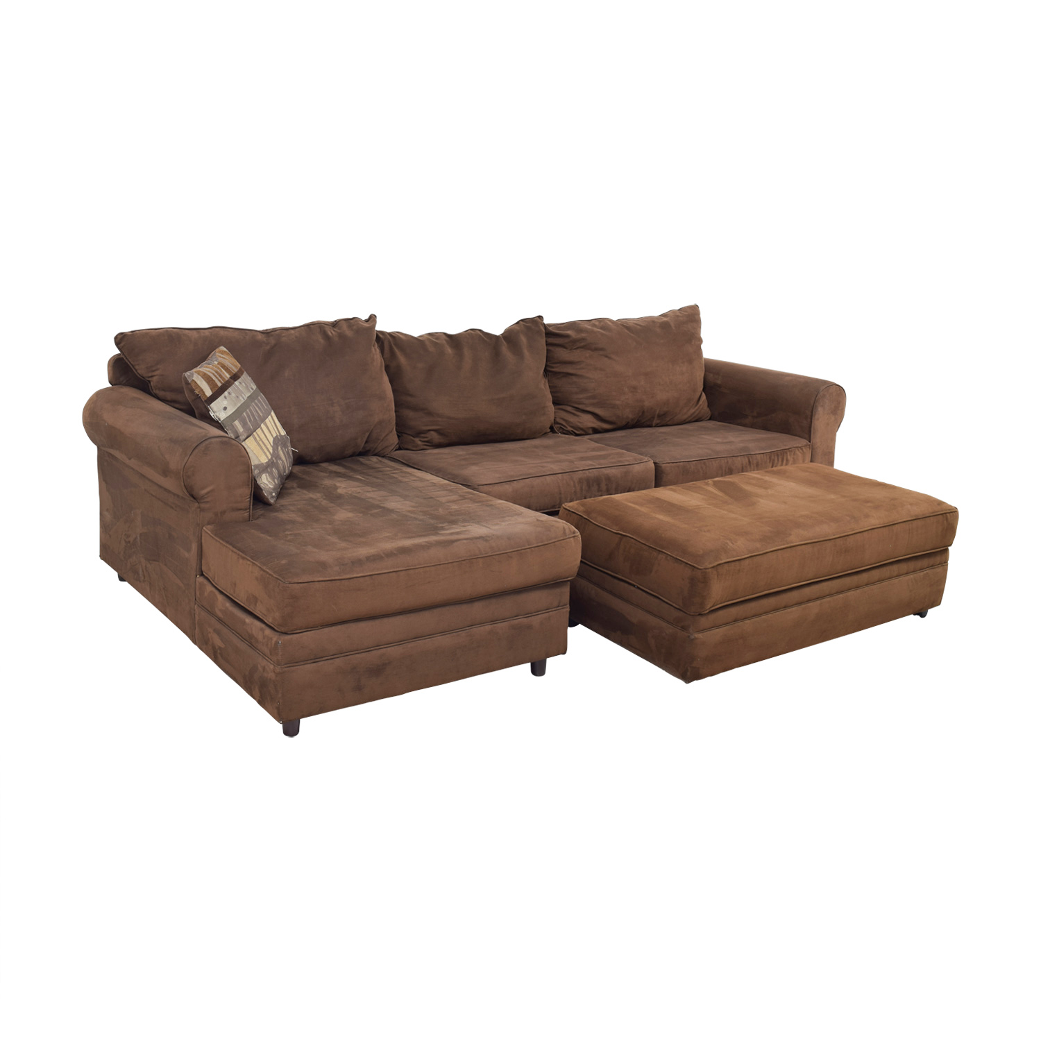 Chocolate Brown Sectional used