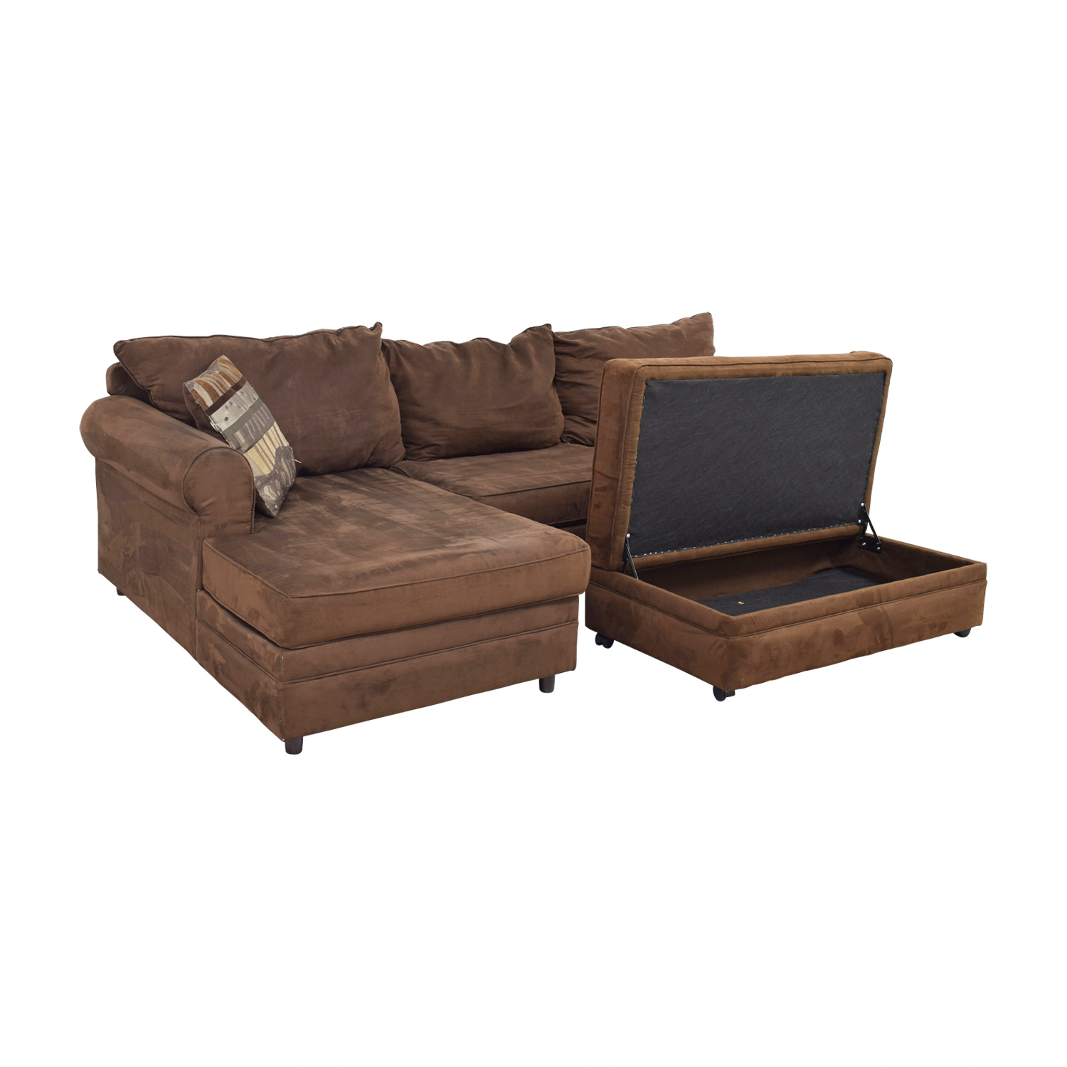 Chocolate Brown Sectional discount