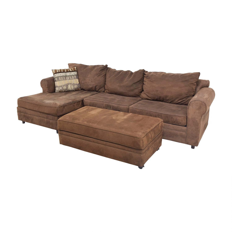Chocolate Brown Sectional / Sofas