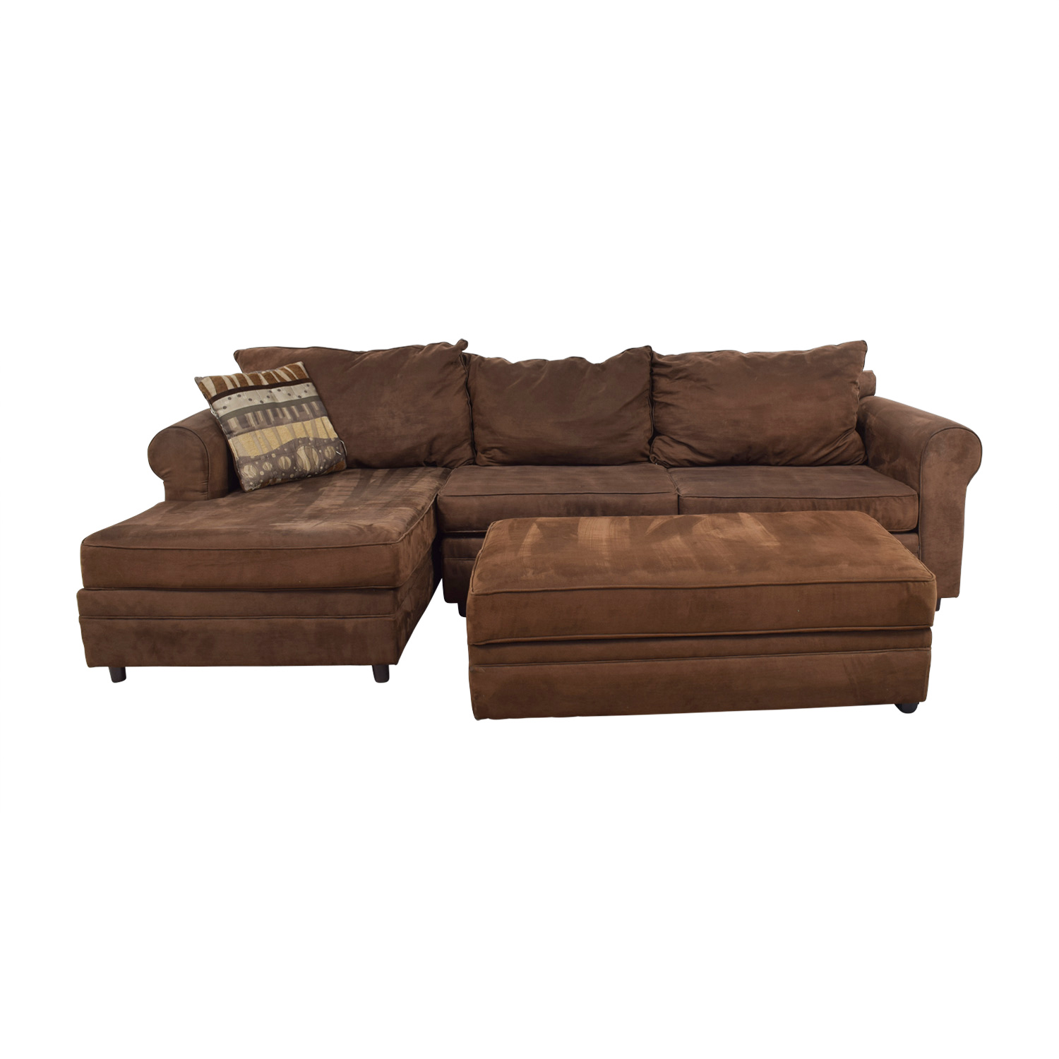 Chocolate Brown Sectional nyc