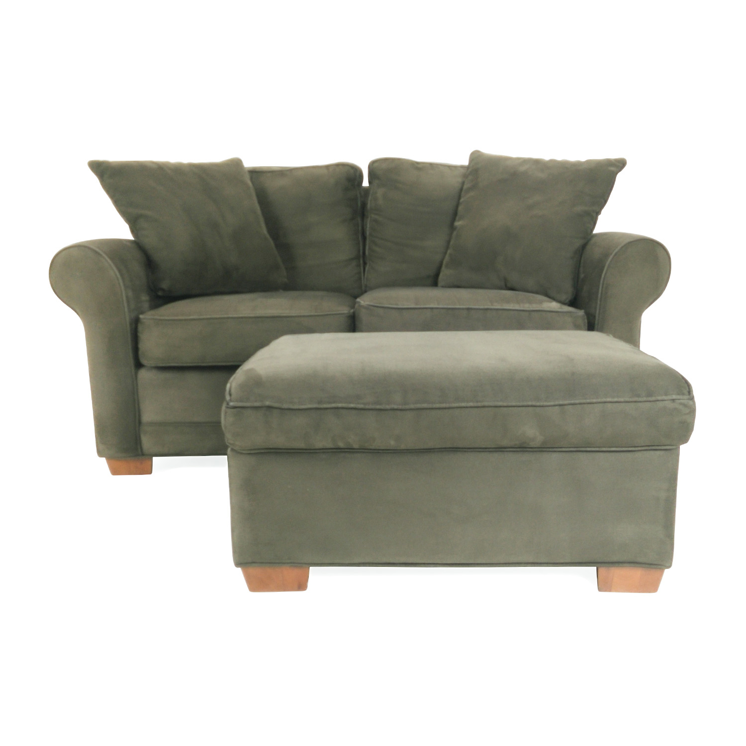 Raymour and Flanigan Raymour and Flanigan Love Seat and Ottoman for sale