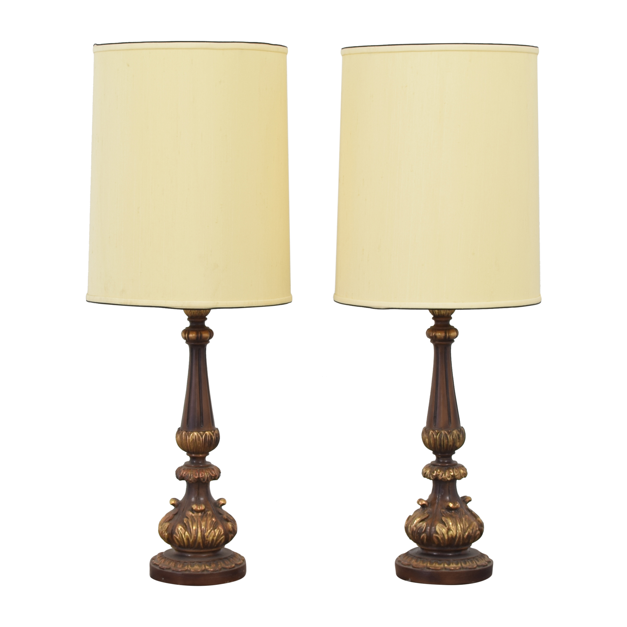 shop Tall Barrel Shaded Mid-Century Table Lamps  Decor