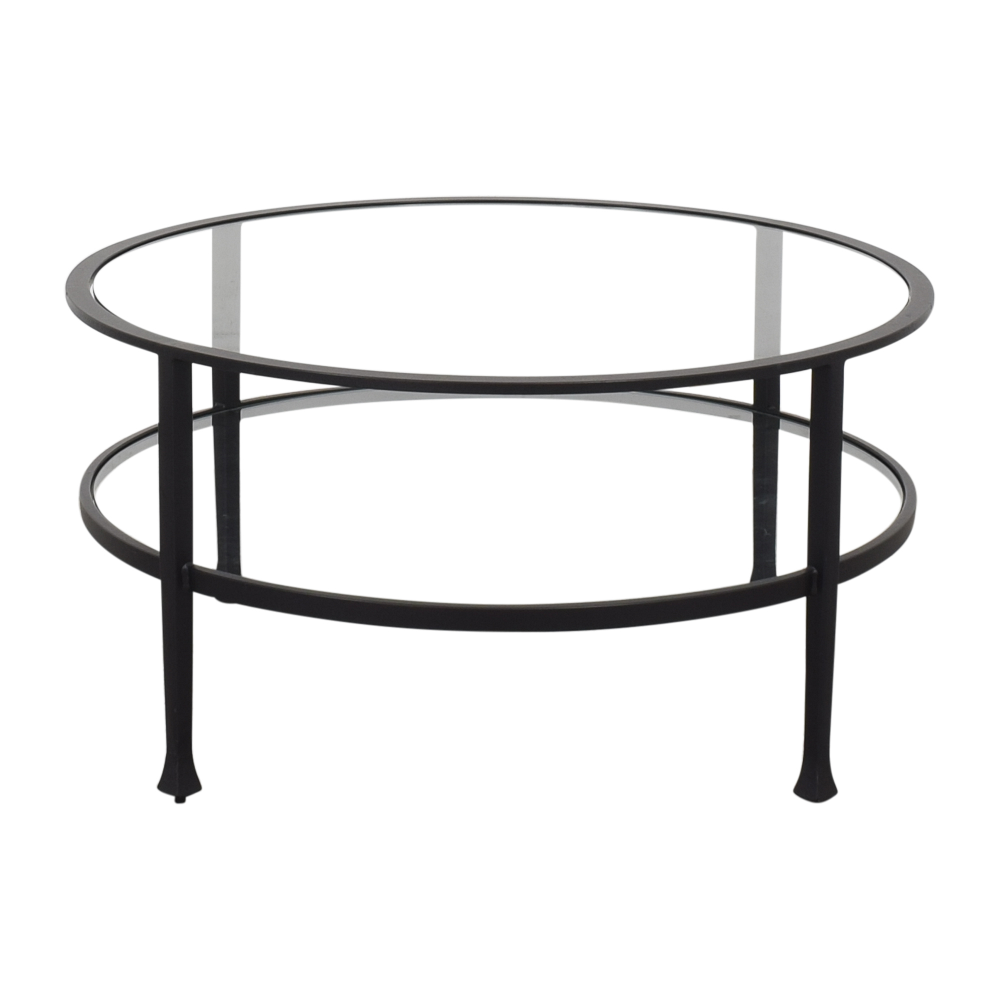 Pottery Barn Pottery Barn Tanner Round Coffee Table Coffee Tables