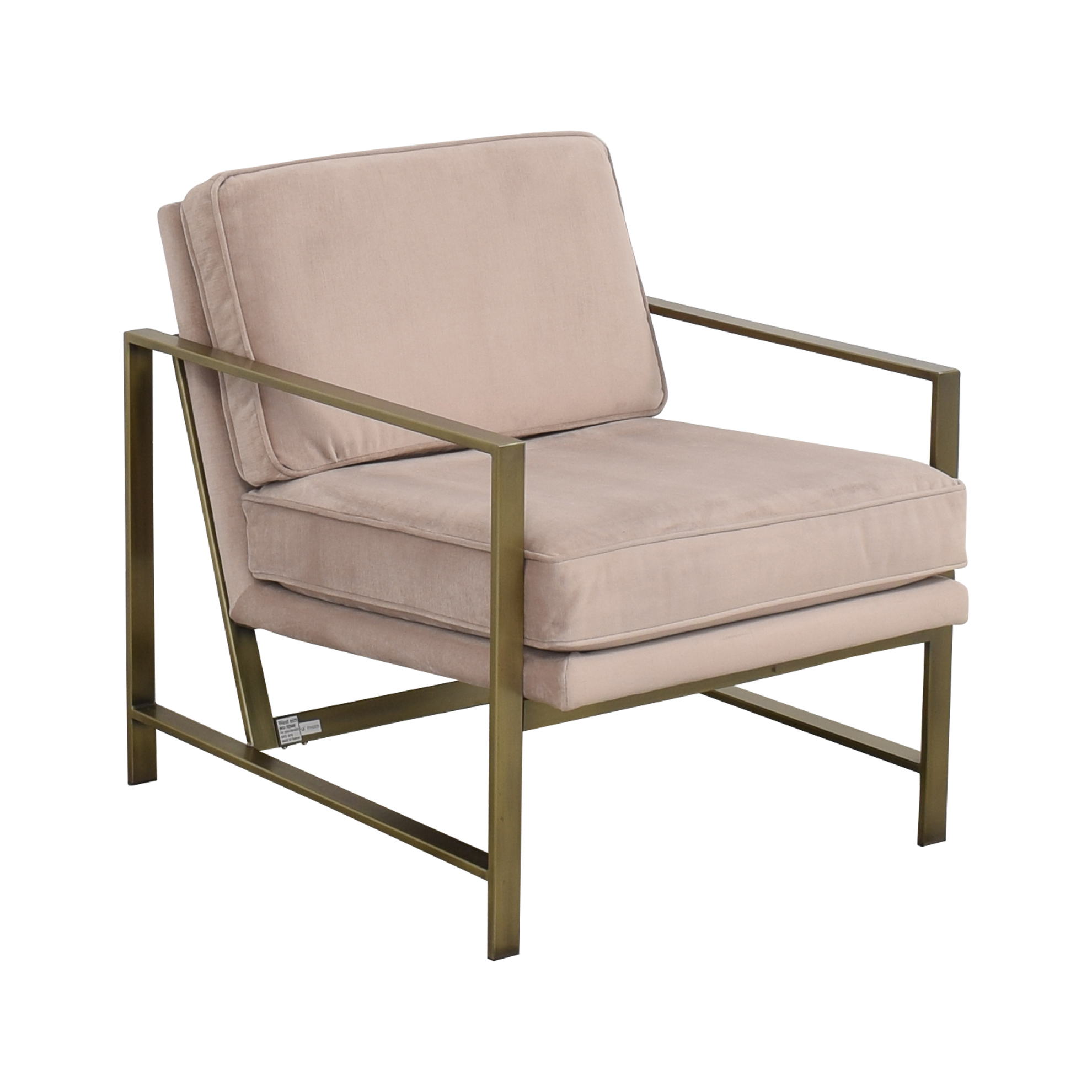 West Elm West Elm Metal Frame Upholstered Chair Accent Chairs