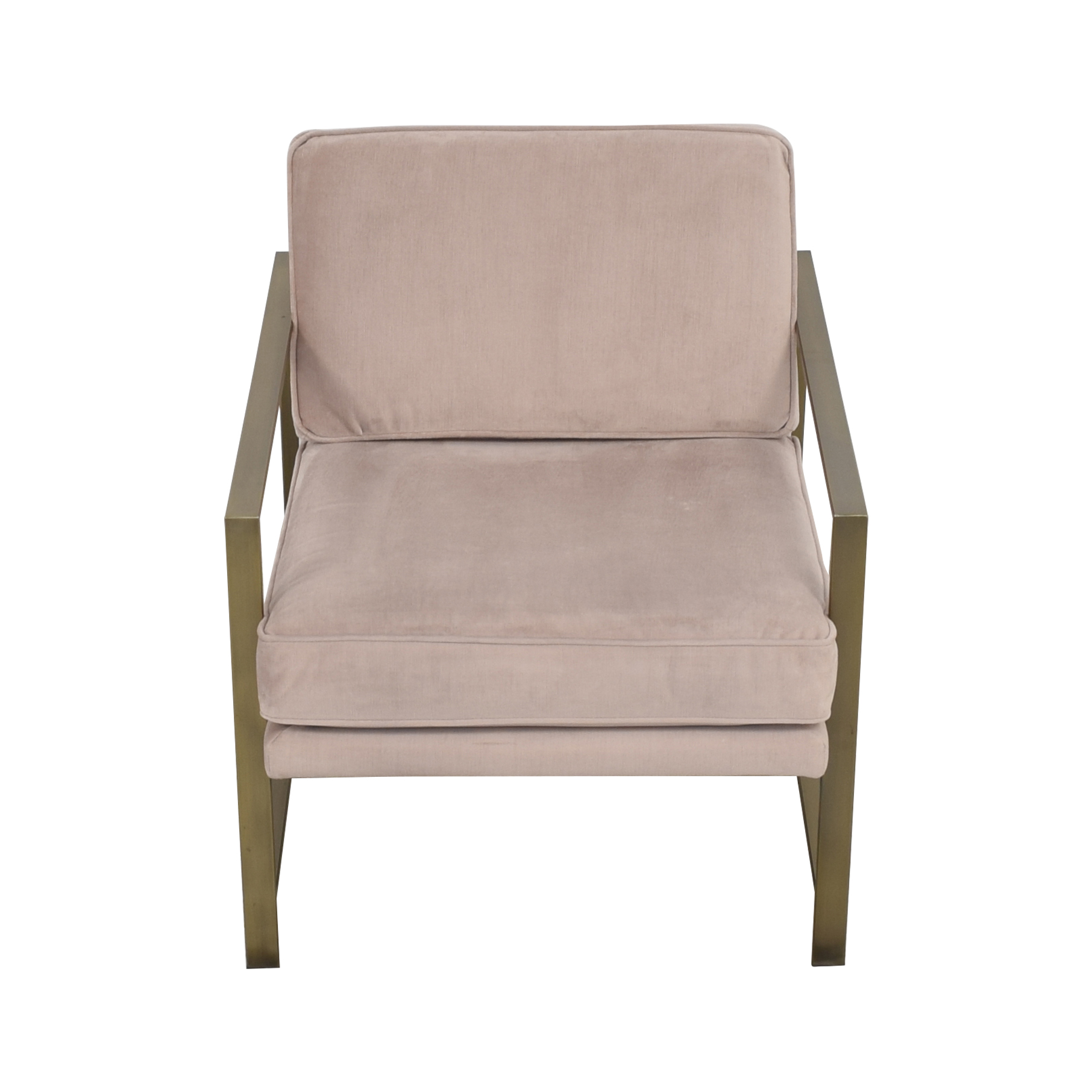 West Elm West Elm Metal Frame Upholstered Chair on sale