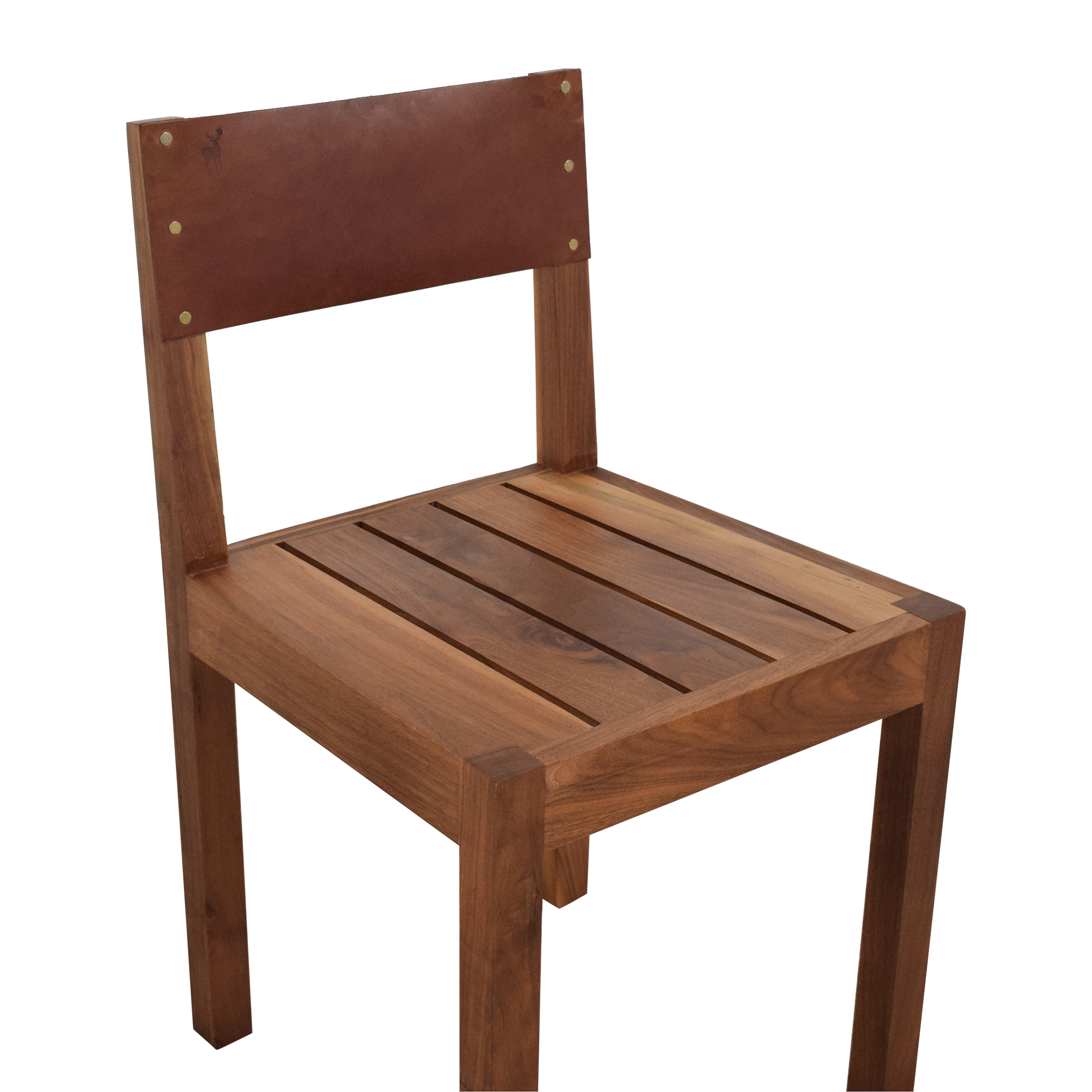 buy Organic Modernism Leather Back Dining Chair Organic Modernism Dining Chairs