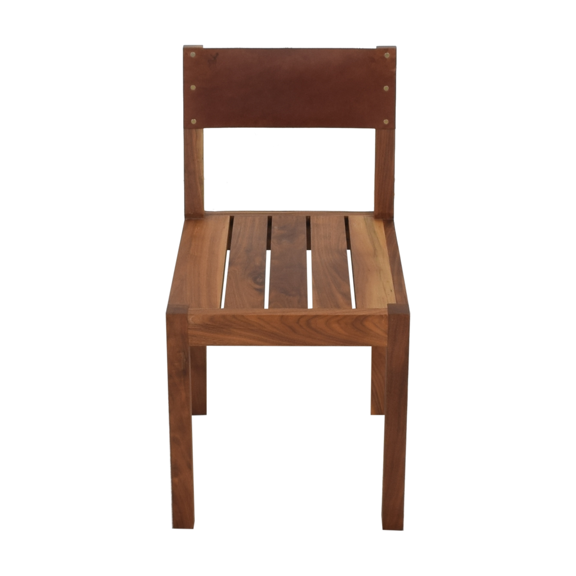 Organic Modernism Organic Modernism Leather Back Dining Chair discount