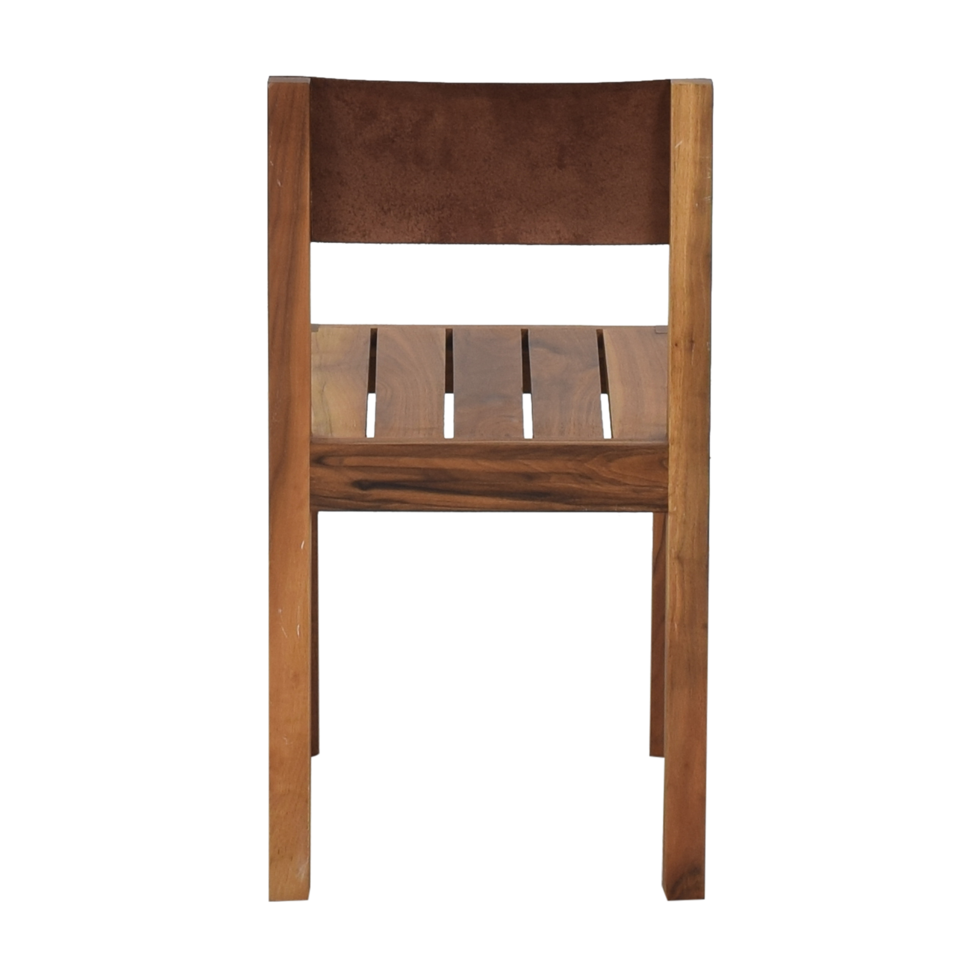 Organic Modernism Leather Back Dining Chair Organic Modernism