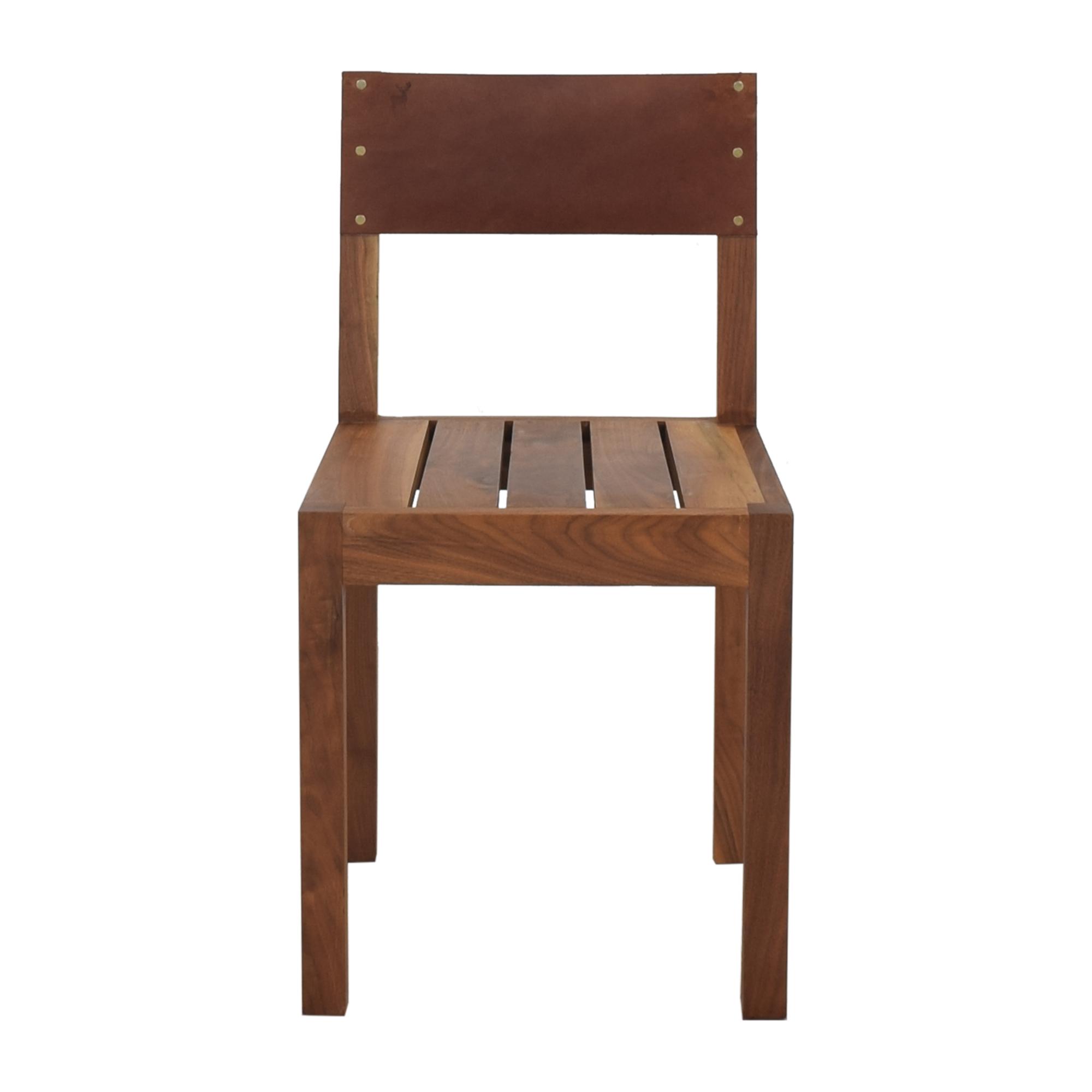 buy Organic Modernism Leather Back Dining Chair Organic Modernism