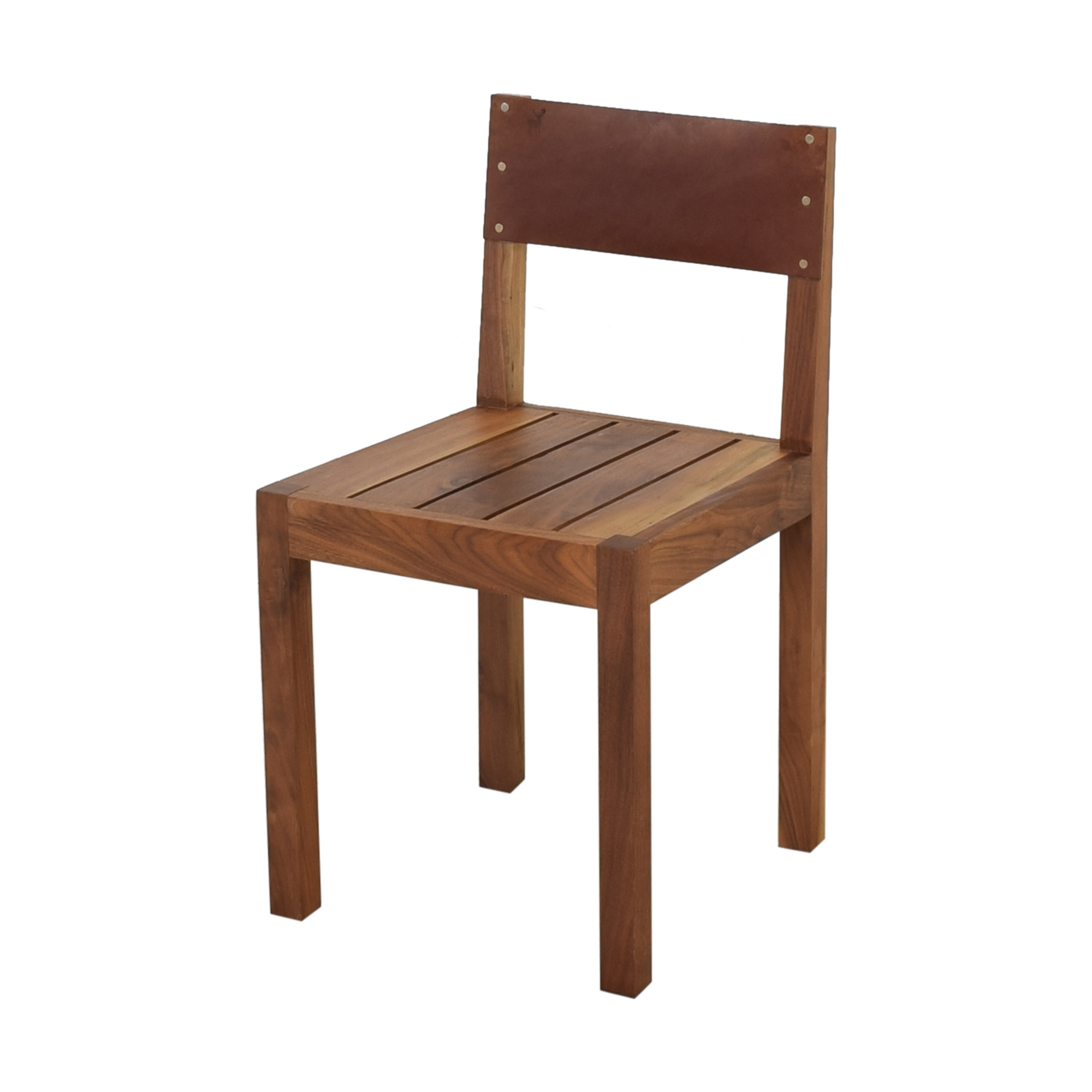 Organic Modernism Organic Modernism Leather Back Dining Chair Dining Chairs