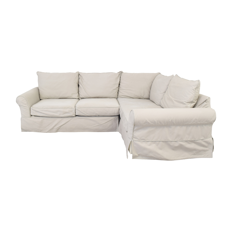Pottery Barn Comfort Slipcovered Corner Sectional Sofa sale