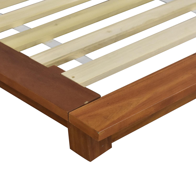 CB2 CB2 Andes Acacia Queen Bed dimensions