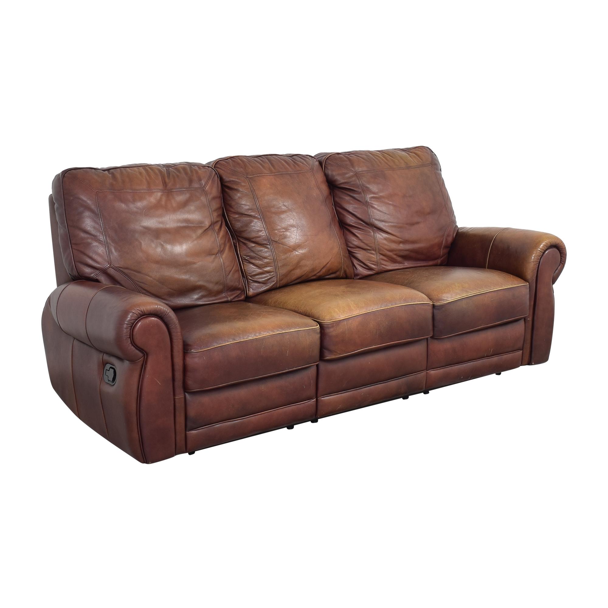 Three Cushion Reclining Sofa on sale