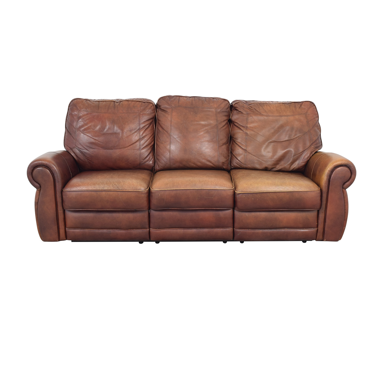 Three Cushion Reclining Sofa second hand