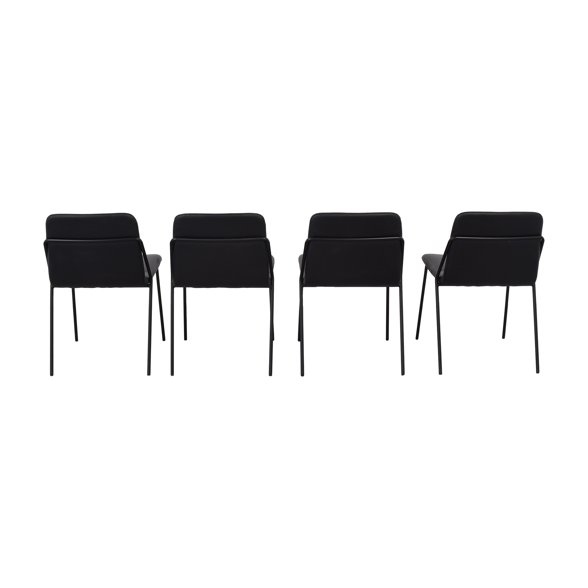 m.a.d. m.a.d. Sling Upholstered Leather Chairs black
